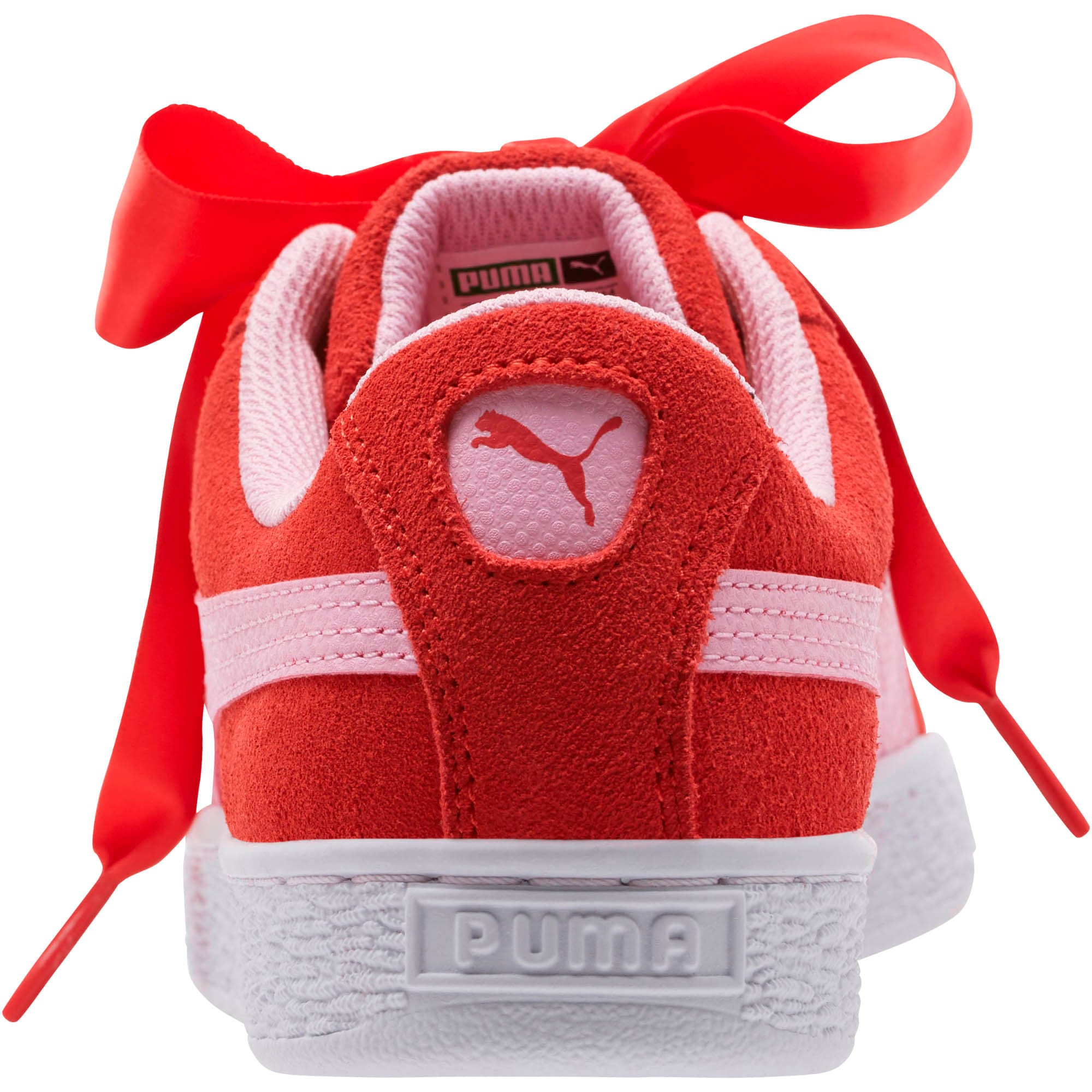 Thumbnail 4 of Suede Heart Radicals Sneakers JR, Hibiscus -Pale Pink, medium