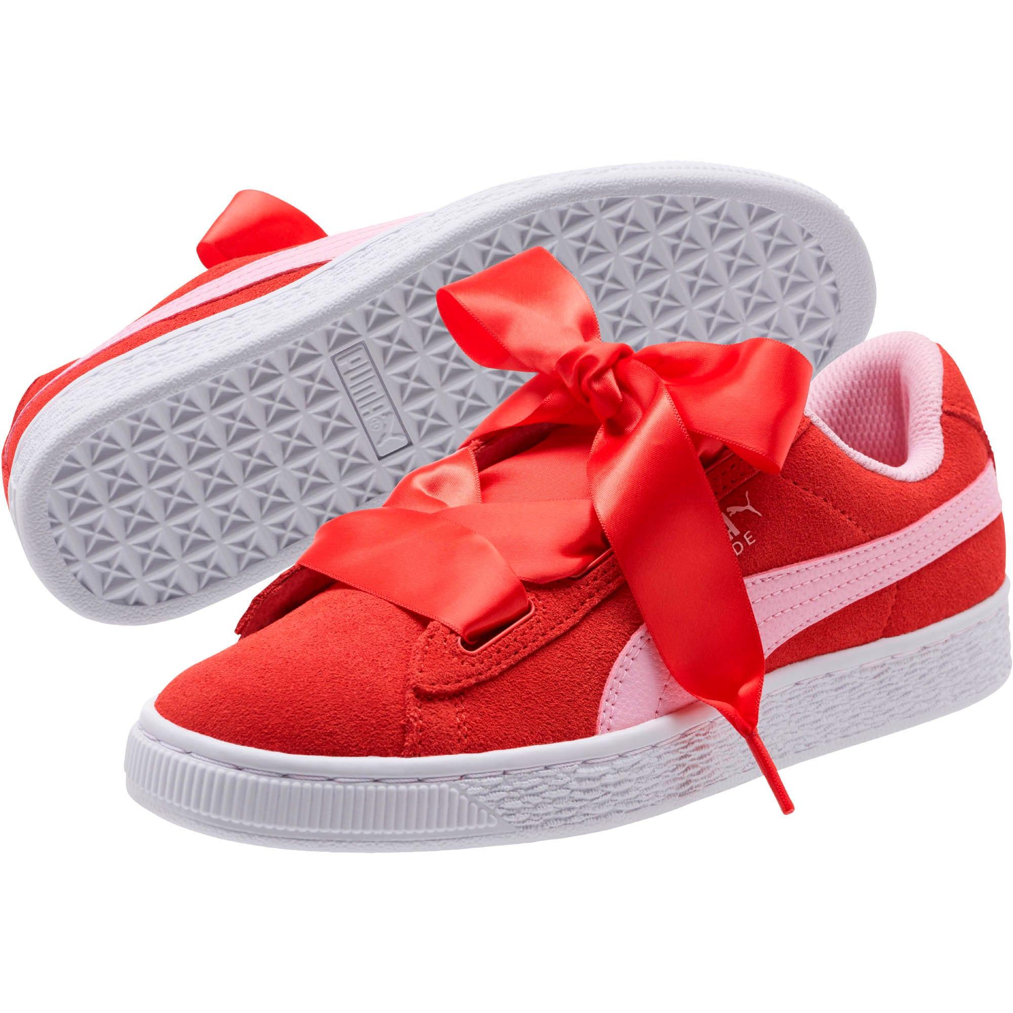 Thumbnail 2 of Suede Heart Radicals Sneakers JR, Hibiscus -Pale Pink, medium