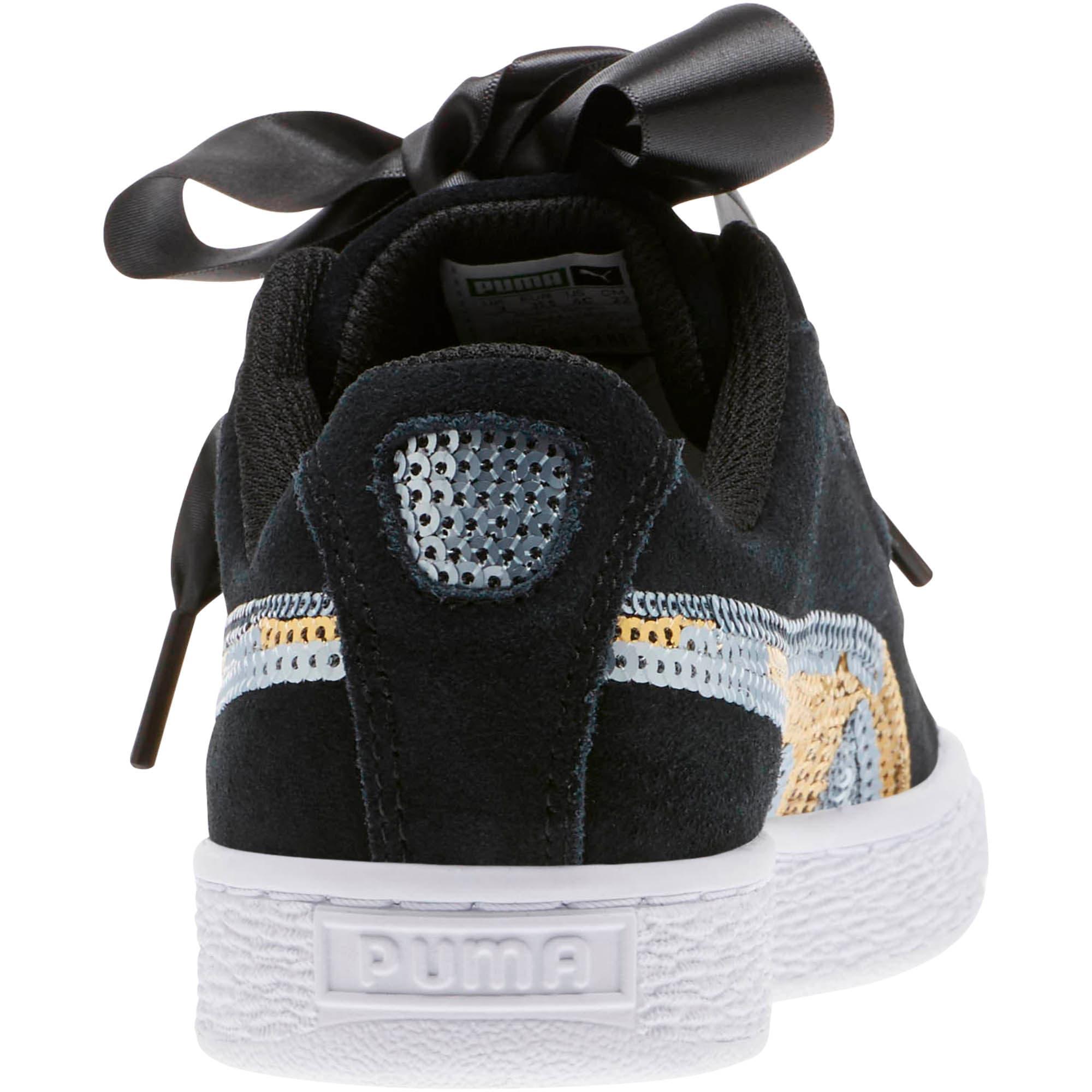 Miniatura 4 de Zapatos deportivos con lentejuelasSuede Heart Trailblazer JR, Puma Black-Puma Team Gold, mediano