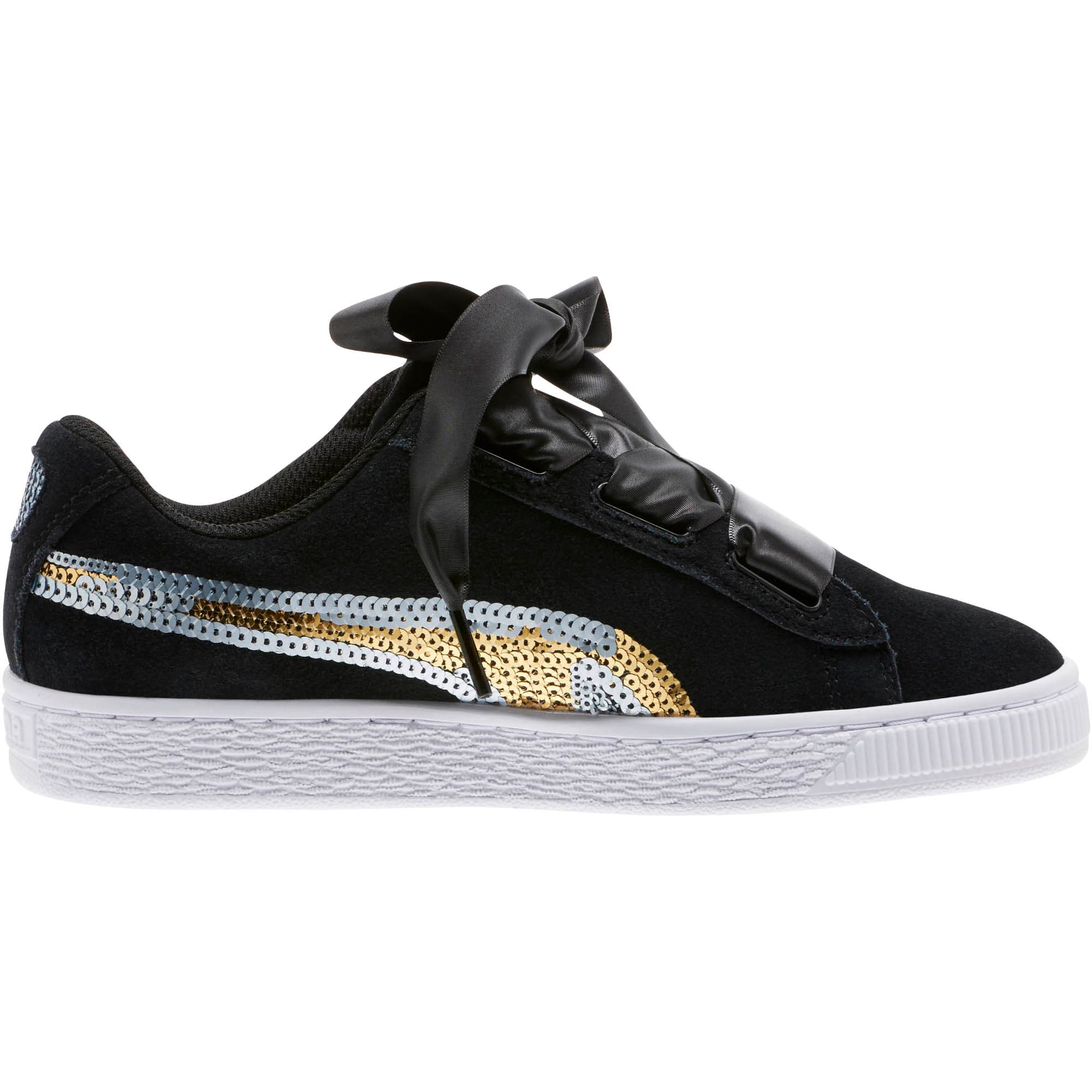 Miniatura 3 de Zapatos deportivos con lentejuelasSuede Heart Trailblazer JR, Puma Black-Puma Team Gold, mediano