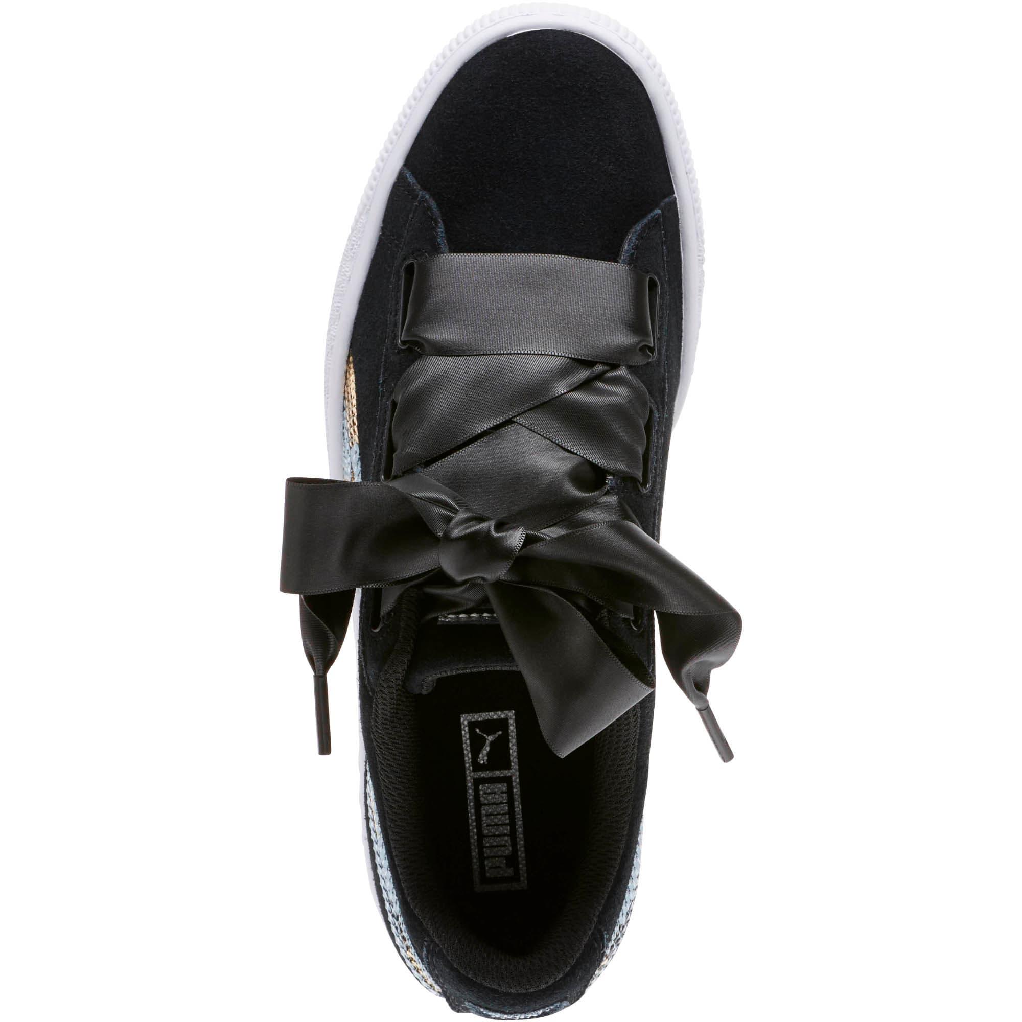 Miniatura 5 de Zapatos deportivos con lentejuelasSuede Heart Trailblazer JR, Puma Black-Puma Team Gold, mediano
