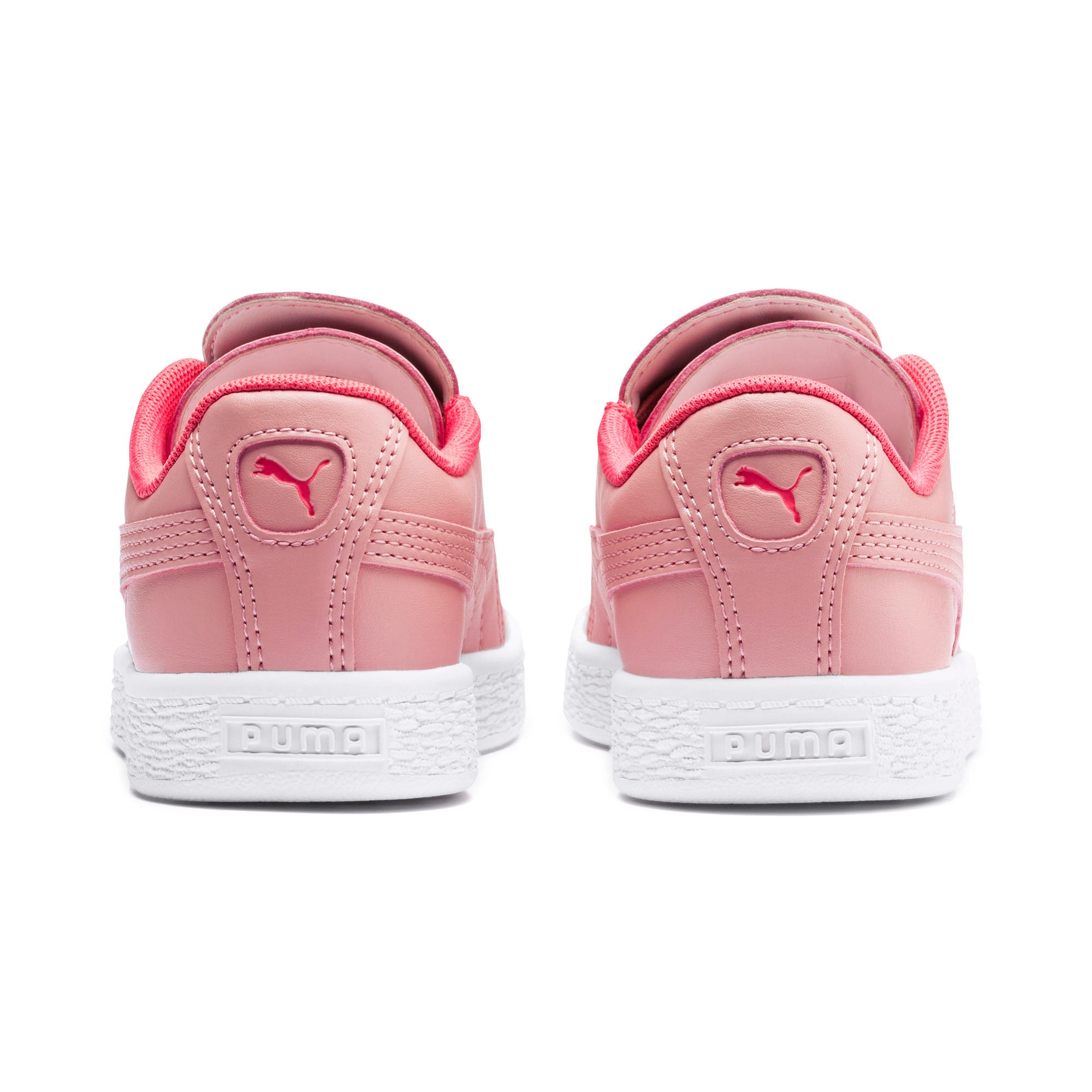 Thumbnail 3 of Basket Crush Kids' Trainers, Bridal Rose-Pink Alert, medium-IND