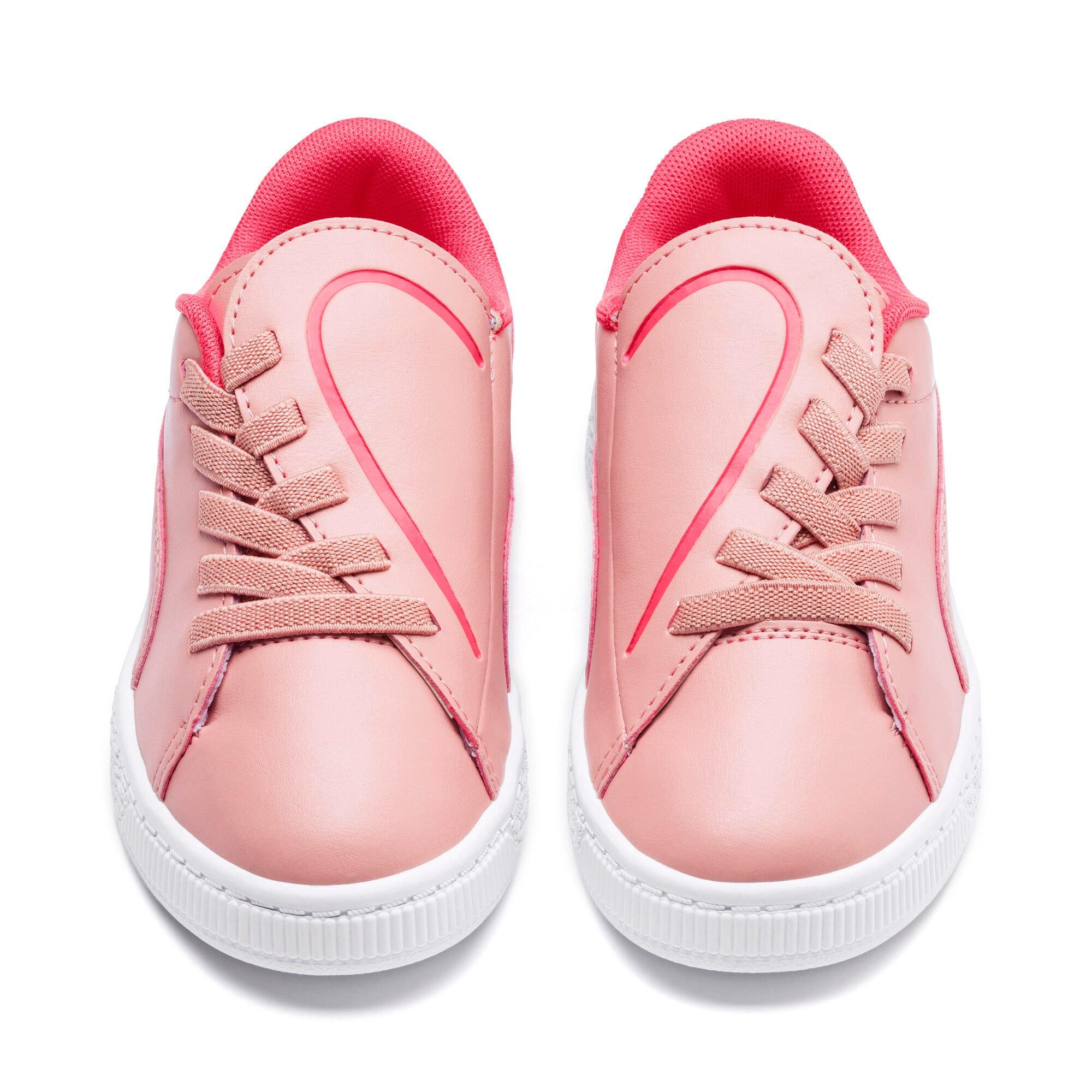 Thumbnail 7 of Basket Crush Kids' Trainers, Bridal Rose-Pink Alert, medium-IND