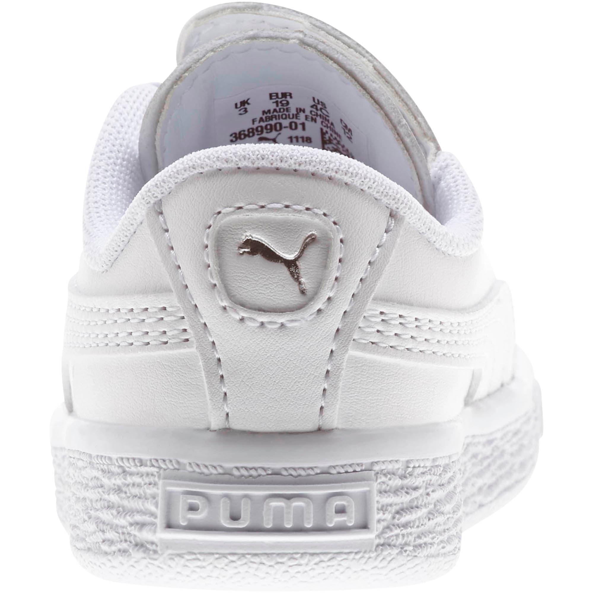 Miniatura 3 de Zapatos Basket Crush AC para bebés, Puma White-Puma Silver, mediano