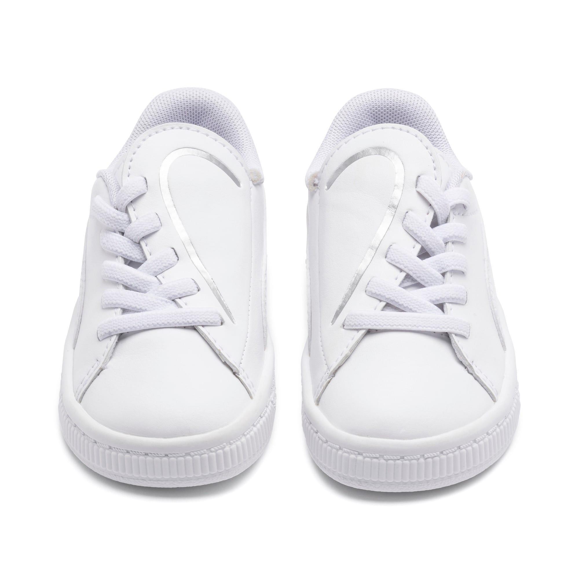 Miniatura 7 de Zapatos Basket Crush AC para bebés, Puma White-Puma Silver, mediano