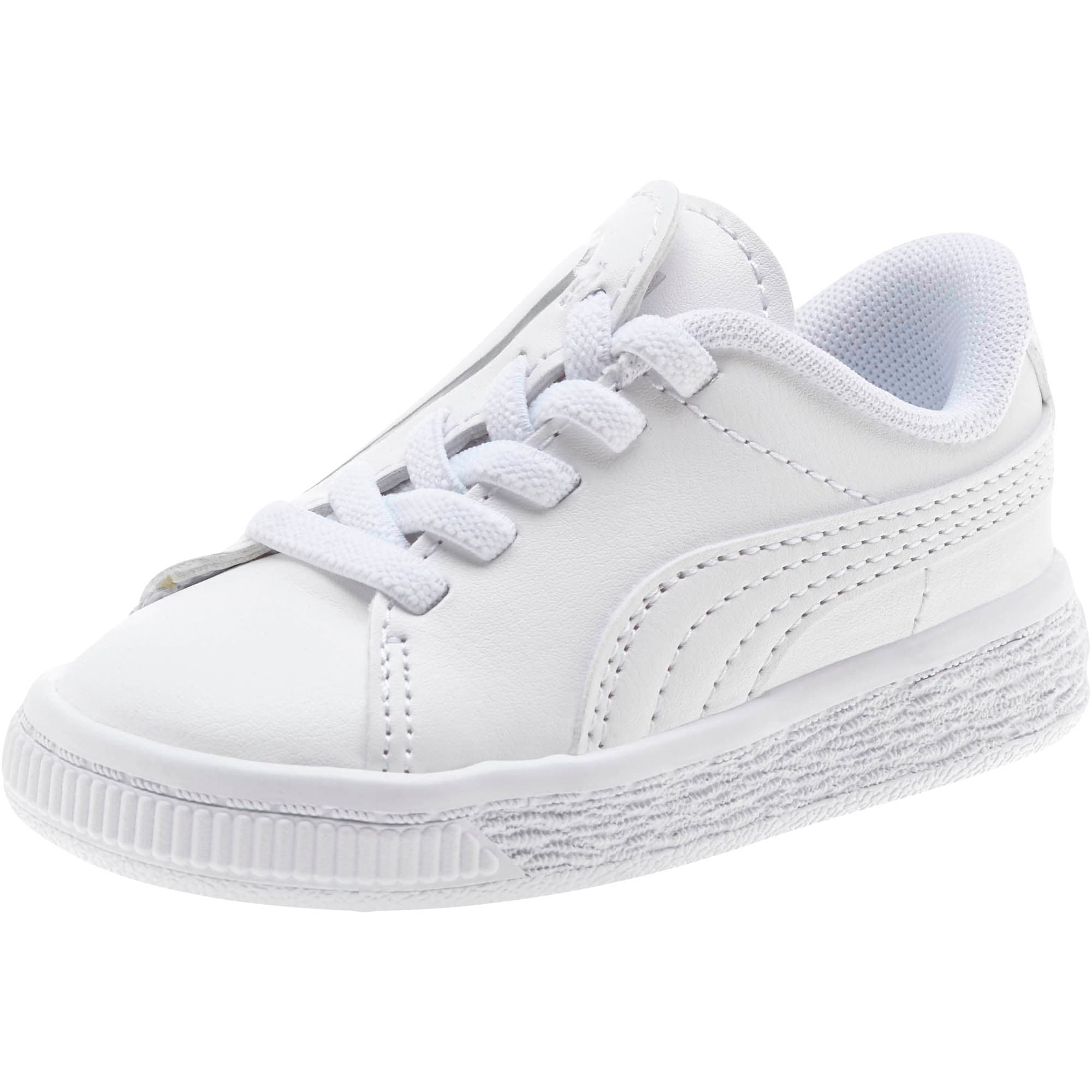 Miniatura 1 de Zapatos Basket Crush AC para bebés, Puma White-Puma Silver, mediano