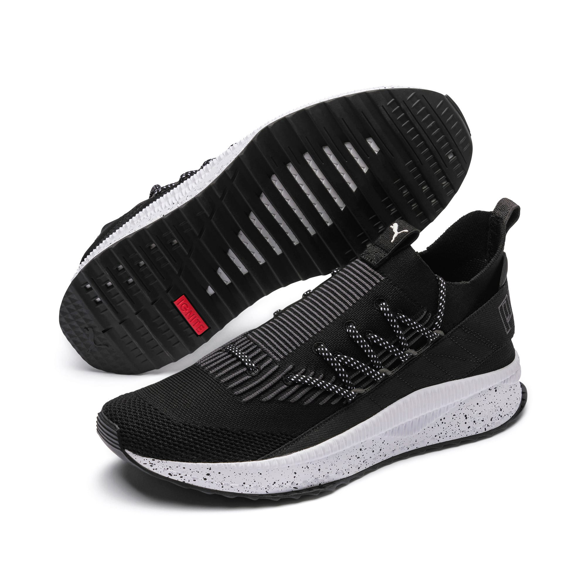 Thumbnail 2 of TSUGI Kai Jun Speckle evoKNIT Sneaker, Puma Black-Asphalt, medium