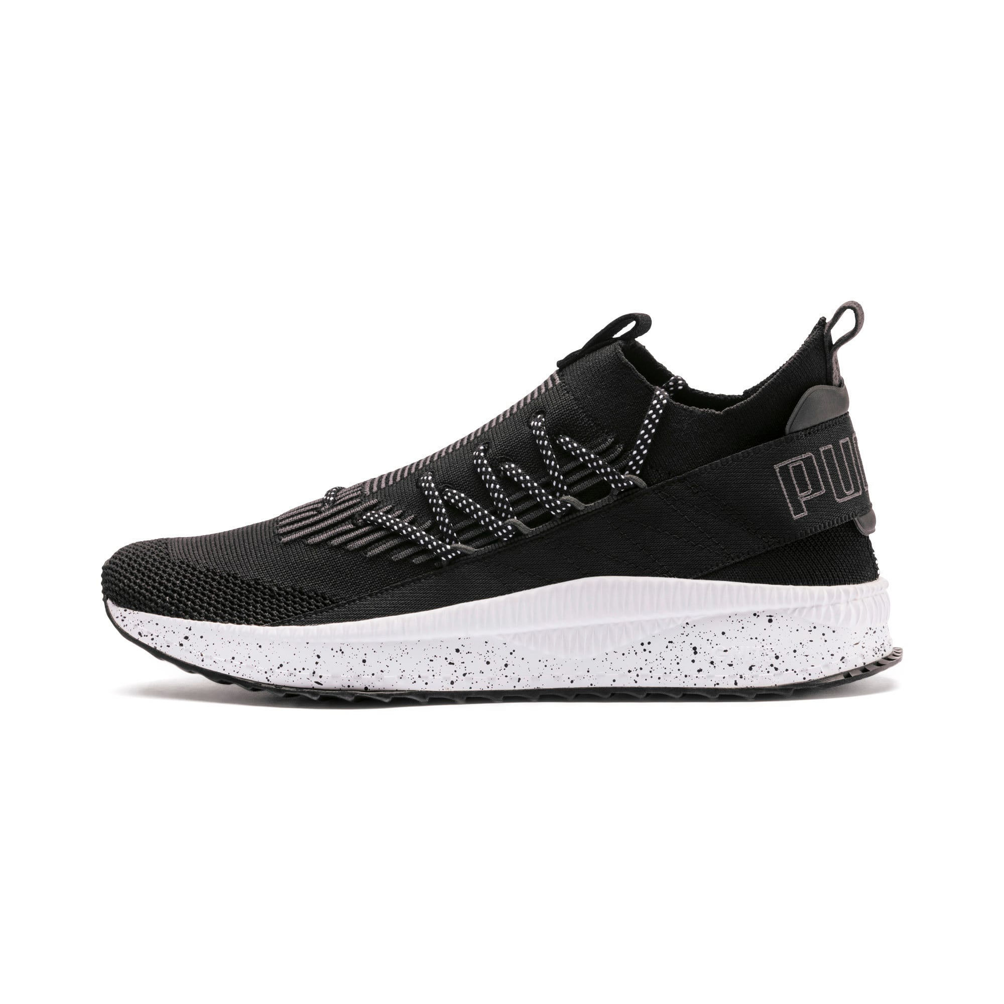 Thumbnail 1 of TSUGI Kai Jun Speckle evoKNIT Sneaker, Puma Black-Asphalt, medium
