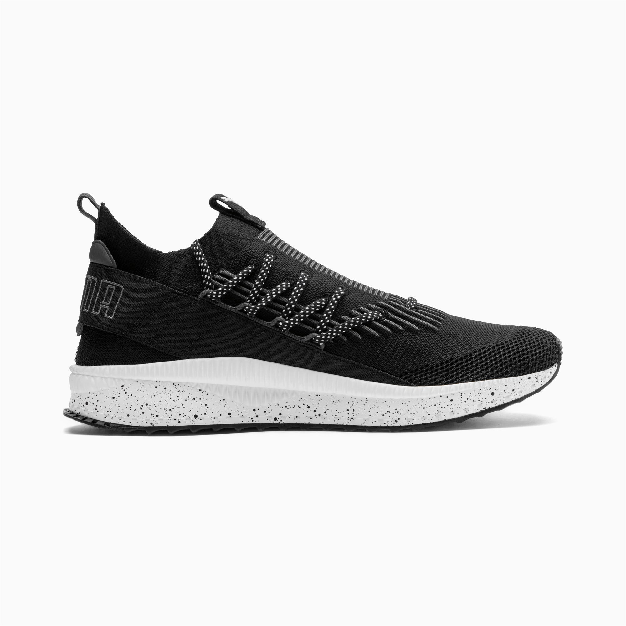 Thumbnail 5 of TSUGI Kai Jun Speckle evoKNIT Sneaker, Puma Black-Asphalt, medium