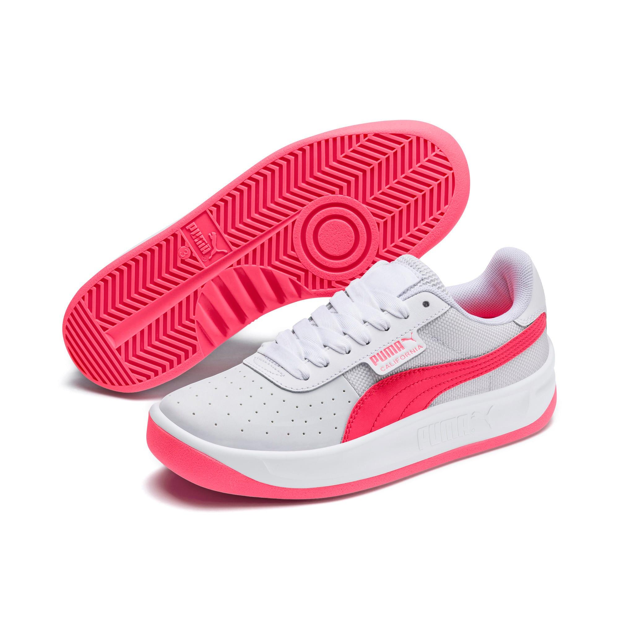 Thumbnail 2 of California Sneakers JR, Puma White-Pink Alert, medium