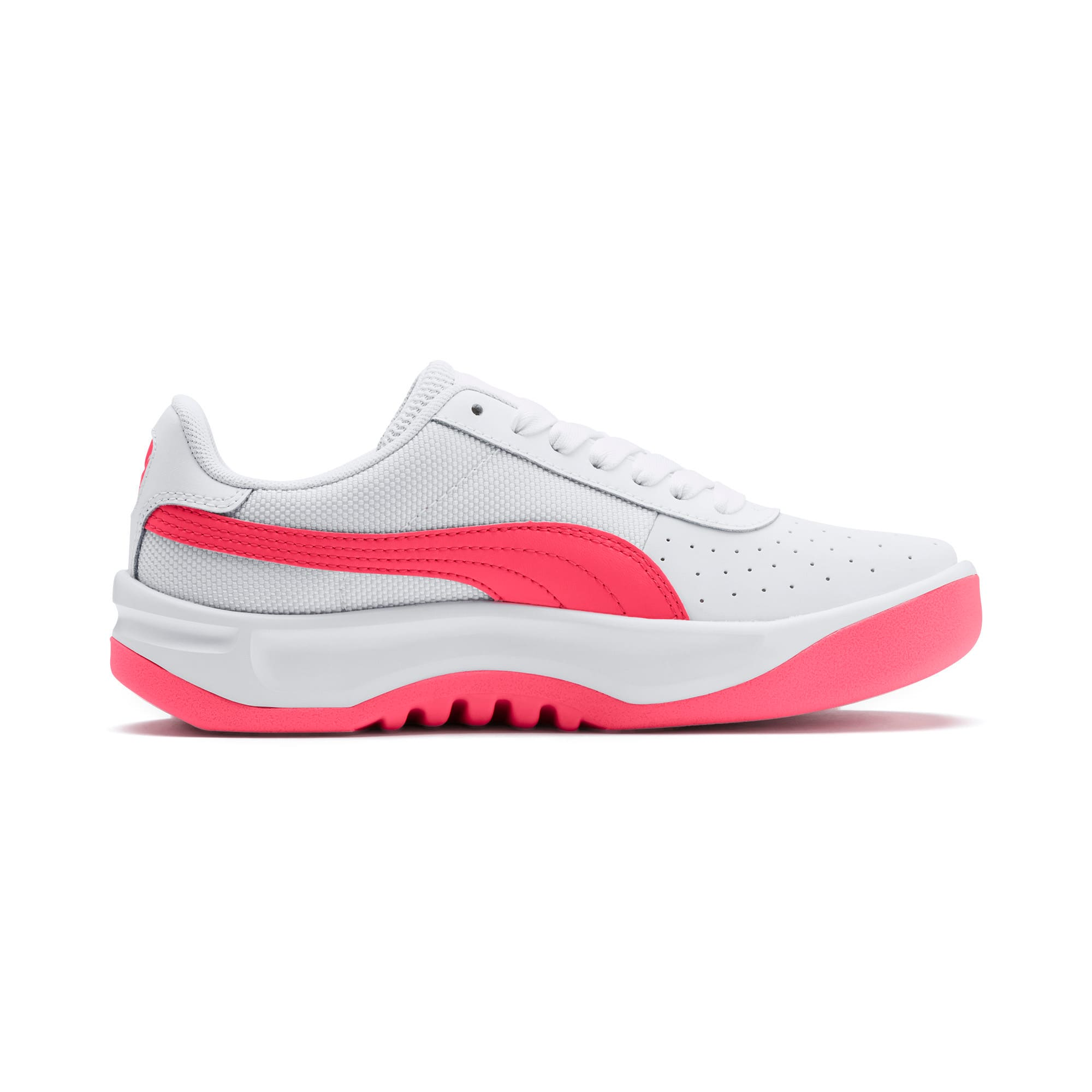 Thumbnail 5 of California Sneakers JR, Puma White-Pink Alert, medium