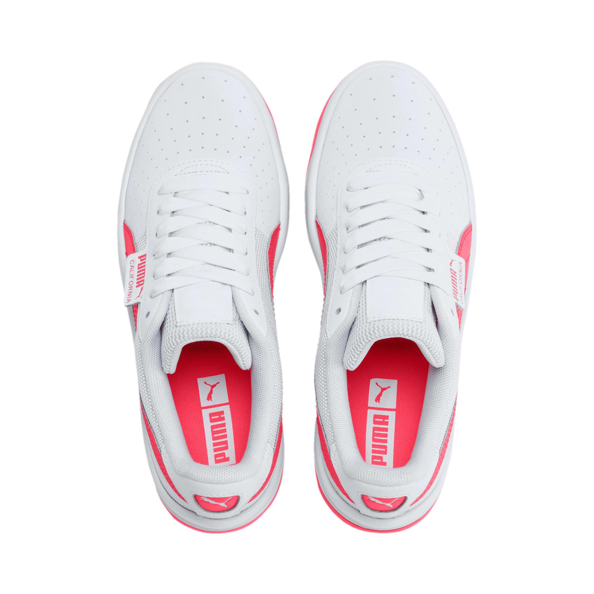 Thumbnail 6 of California Sneakers JR, Puma White-Pink Alert, medium