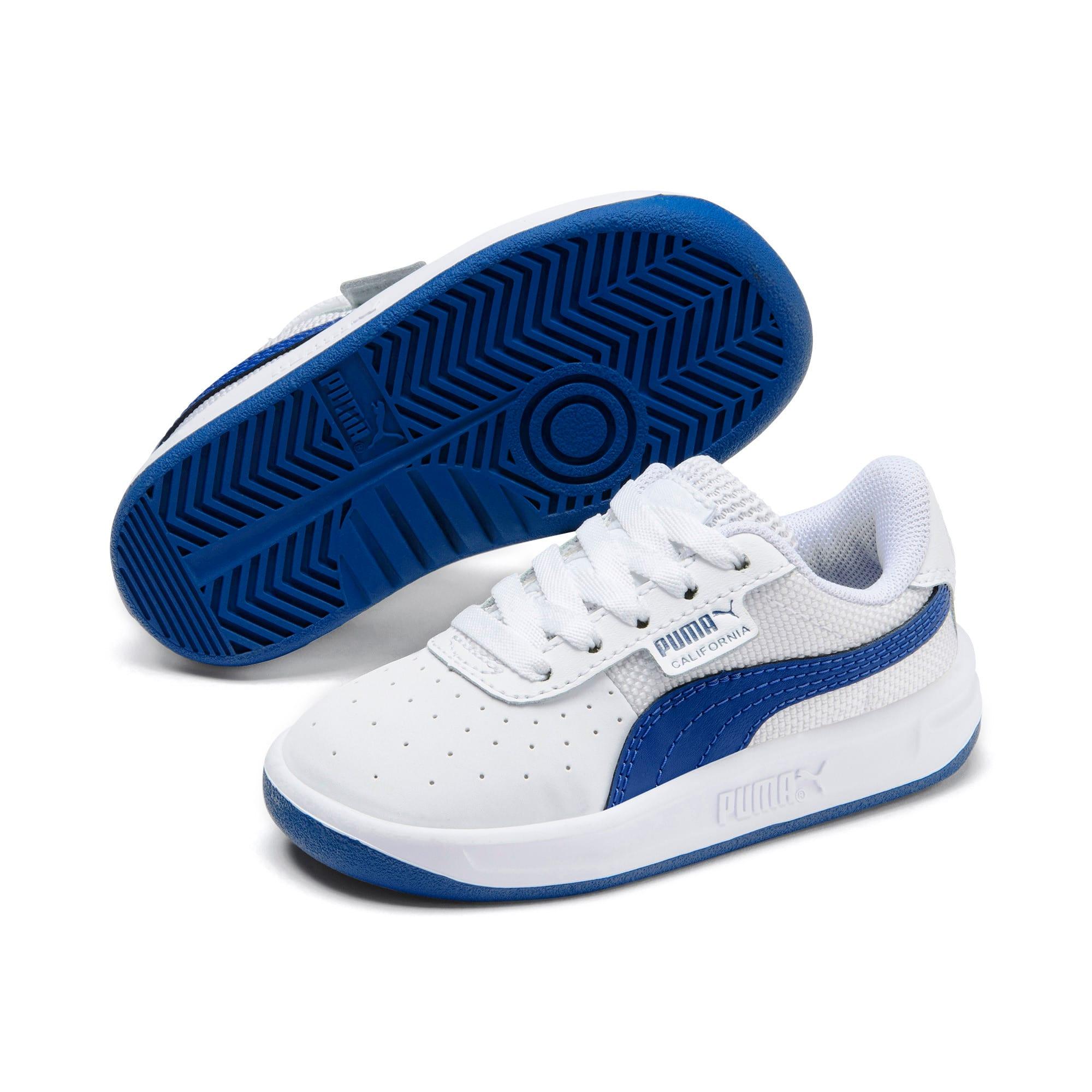 Thumbnail 2 of California Toddler Shoes, Puma White-Galaxy Blue, medium