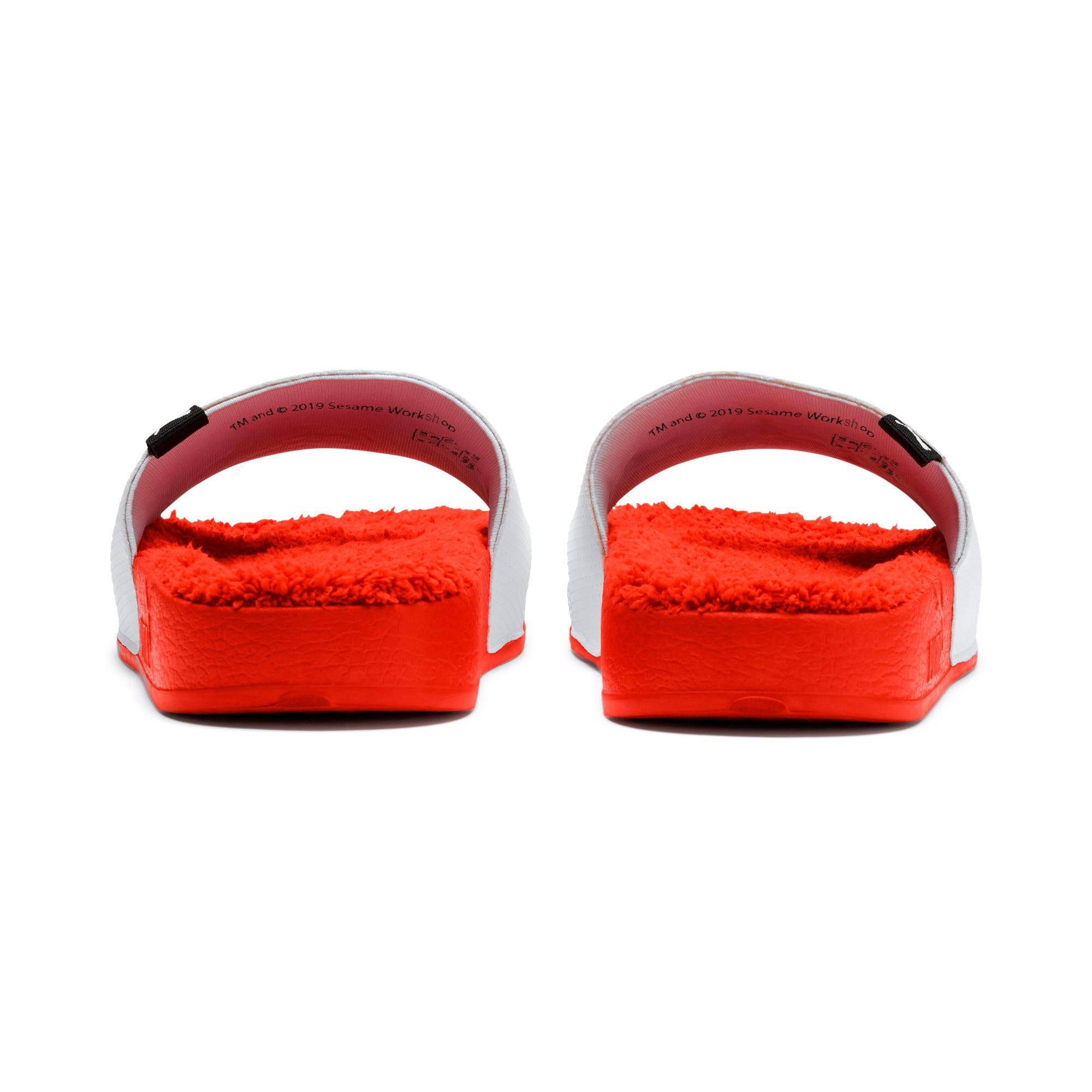 Thumbnail 3 of Sesame Street Kids' Leadcat Sandals, Cherry Tomato-Puma White, medium-IND