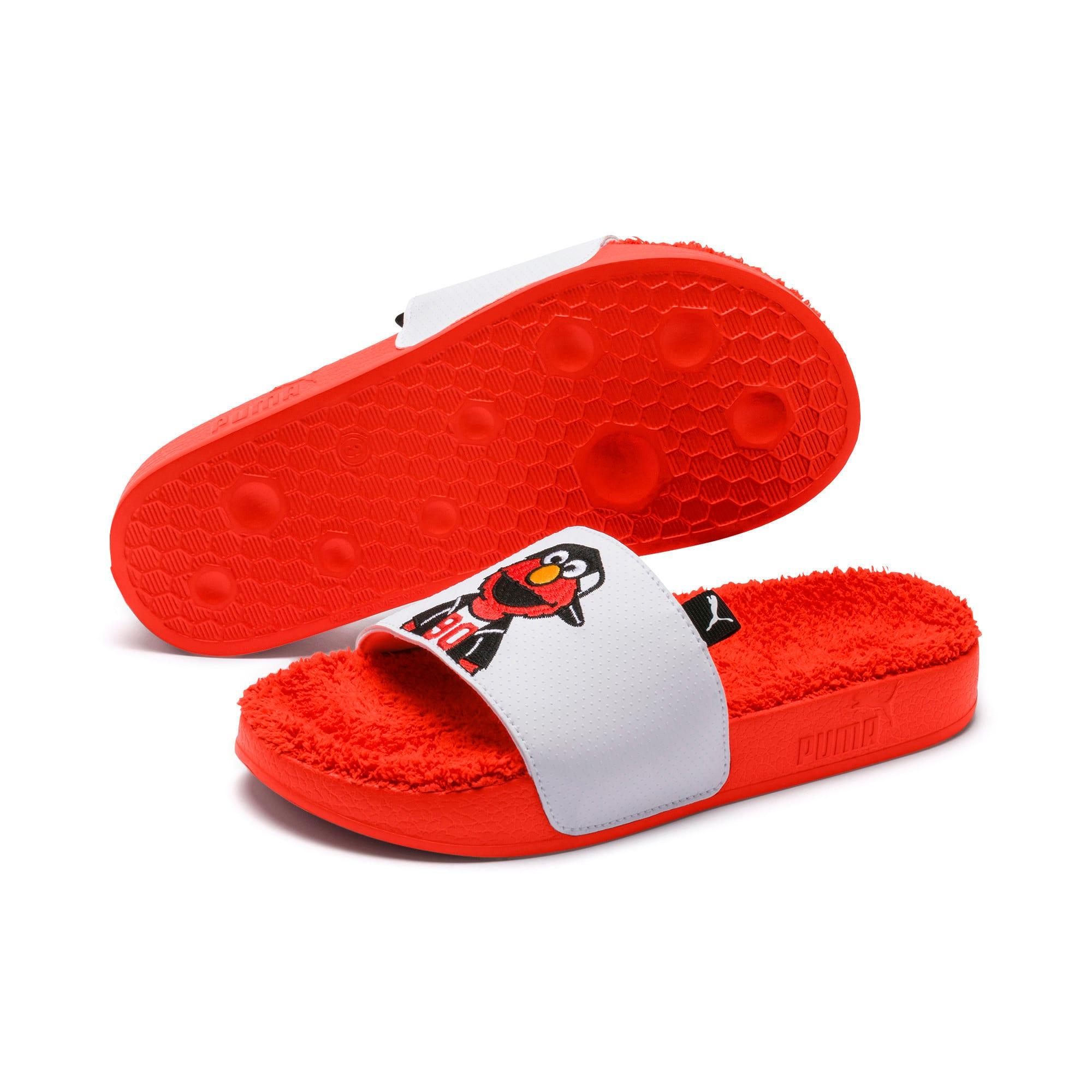 Thumbnail 2 of Sesame Street Kids' Leadcat Sandals, Cherry Tomato-Puma White, medium-IND