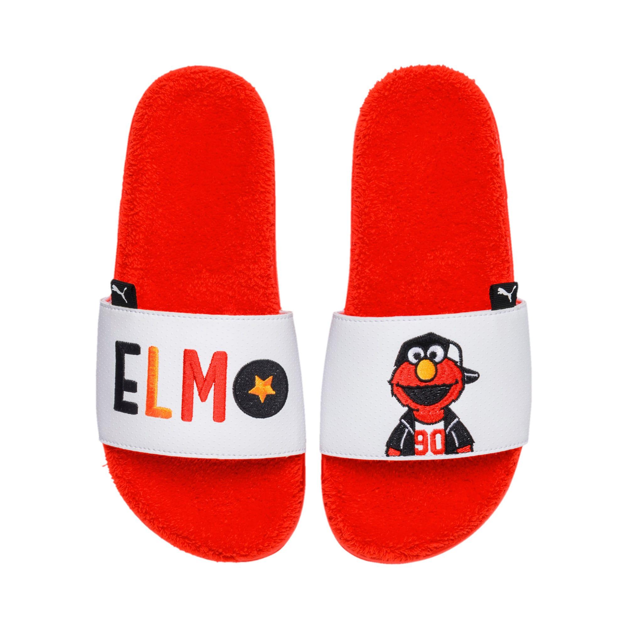 Thumbnail 5 of Sesame Street Kids' Leadcat Sandals, Cherry Tomato-Puma White, medium-IND