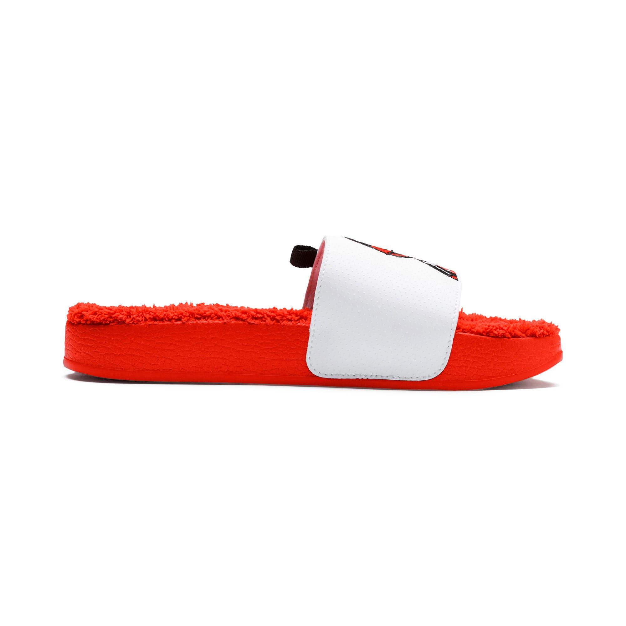 Thumbnail 6 of Sesame Street Kids' Leadcat Sandals, Cherry Tomato-Puma White, medium-IND