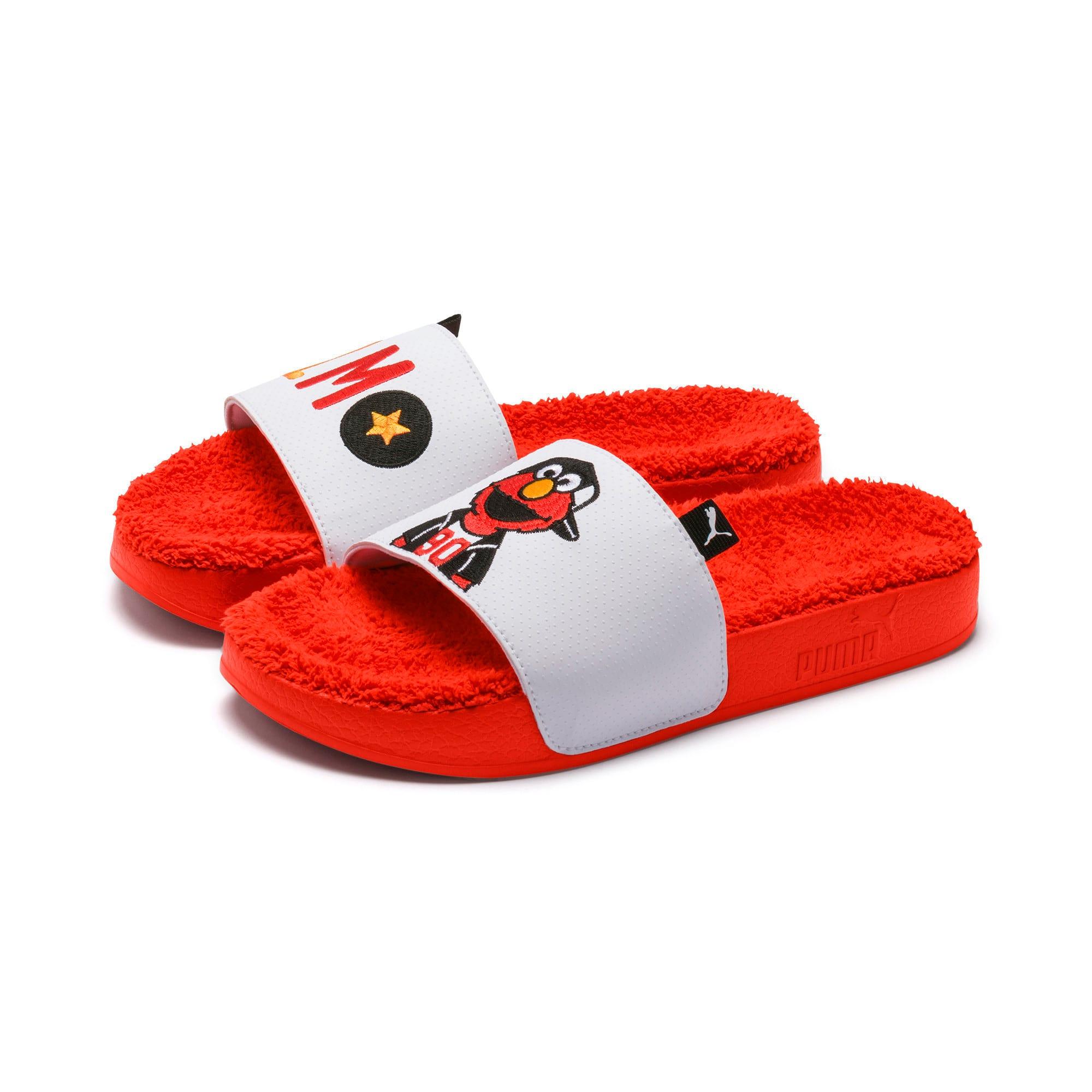 Thumbnail 7 of Sesame Street Kids' Leadcat Sandals, Cherry Tomato-Puma White, medium-IND