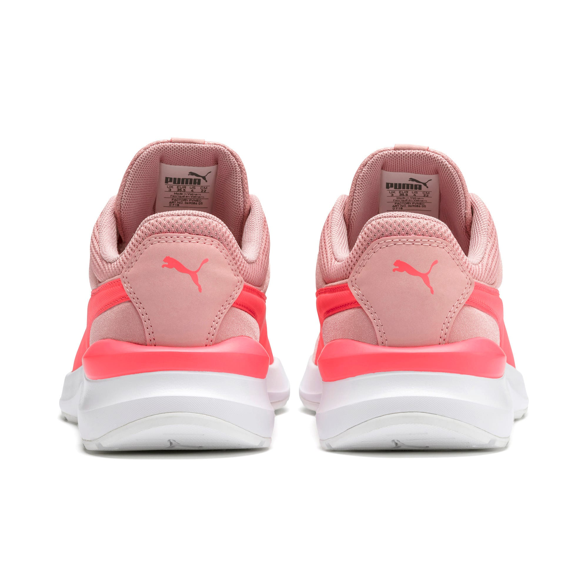 Thumbnail 3 of Adela Satin Girls' Trainers, Bridal Rose-Calypso Coral, medium-IND