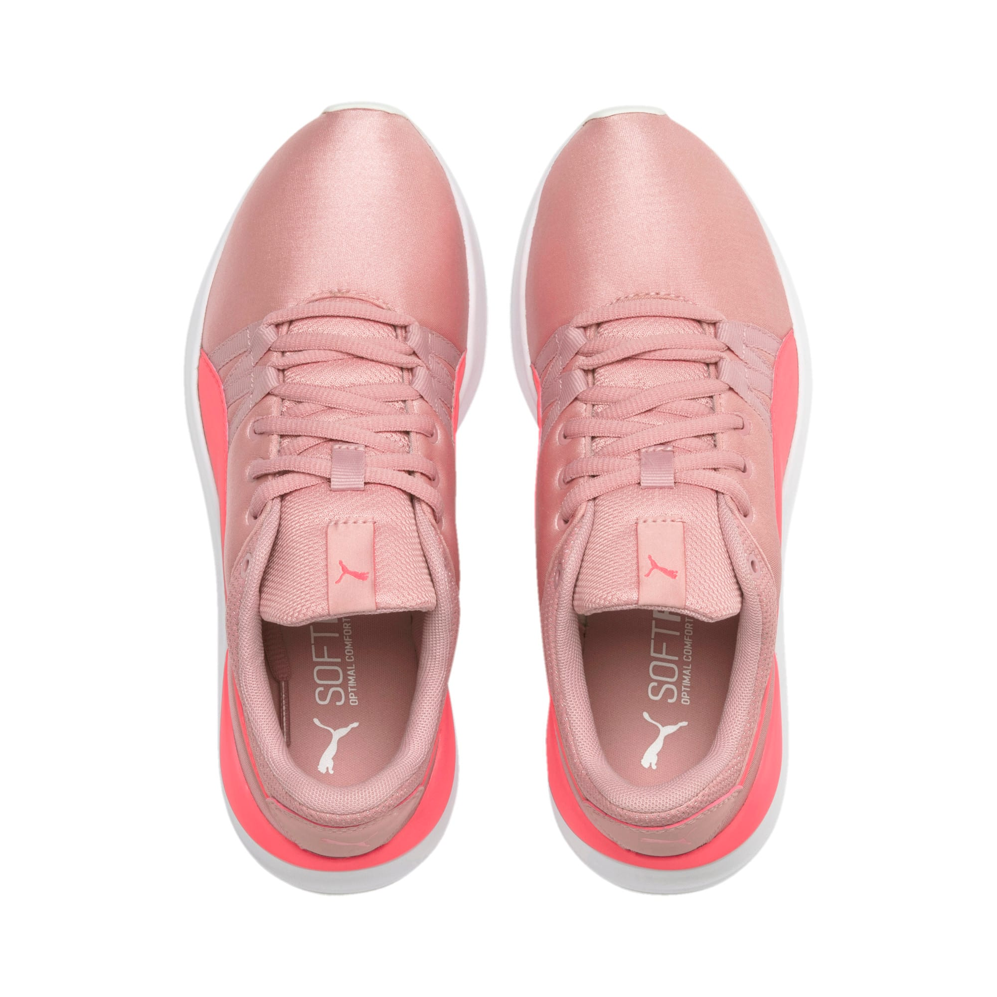 Thumbnail 2 of Adela Satin Girls' Trainers, Bridal Rose-Calypso Coral, medium-IND