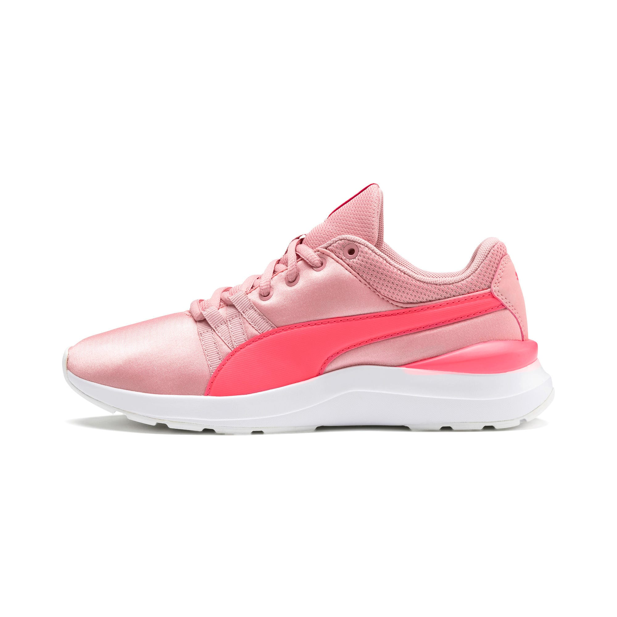Thumbnail 1 of Adela Satin Girls' Trainers, Bridal Rose-Calypso Coral, medium-IND
