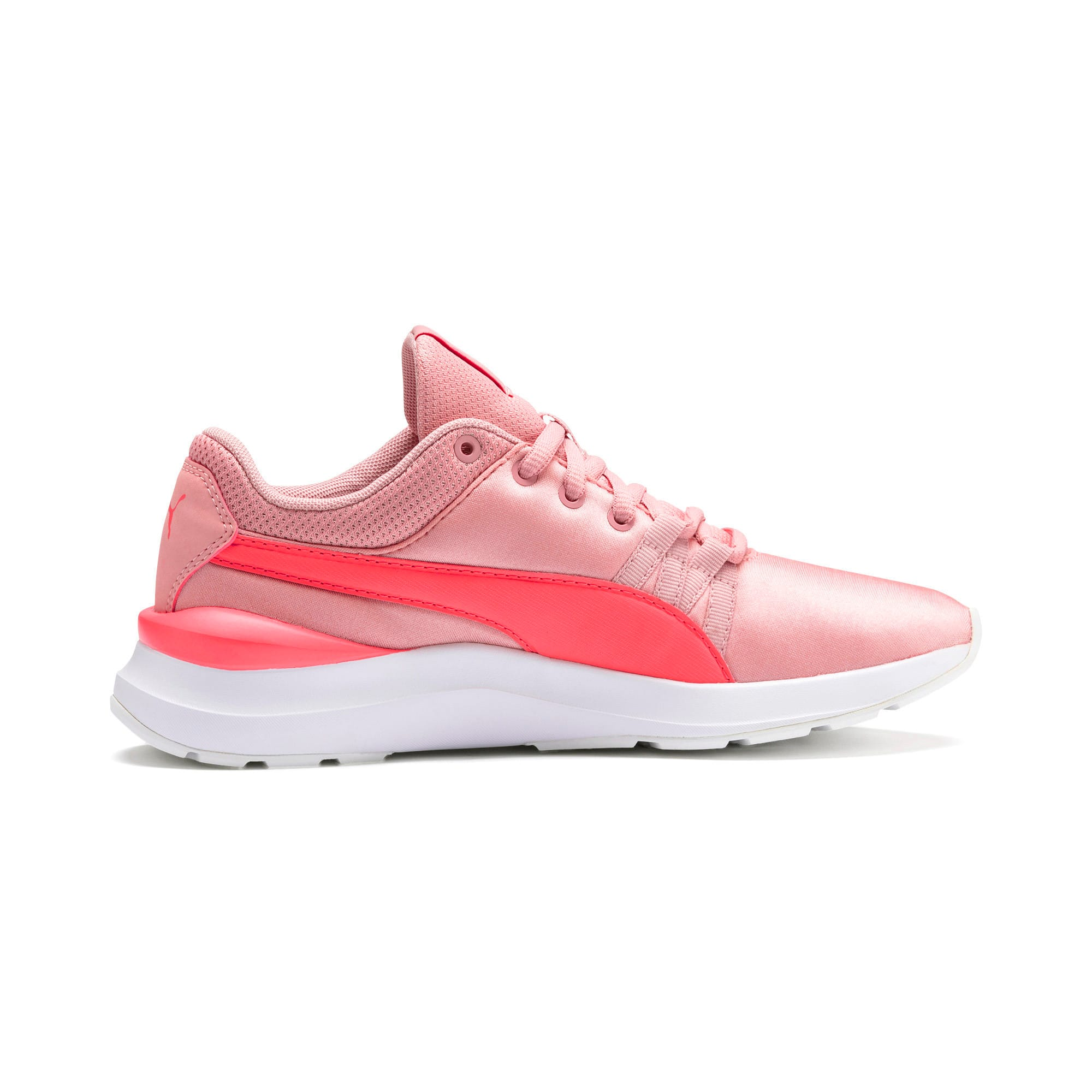 Thumbnail 5 of Adela Satin Girls' Trainers, Bridal Rose-Calypso Coral, medium-IND