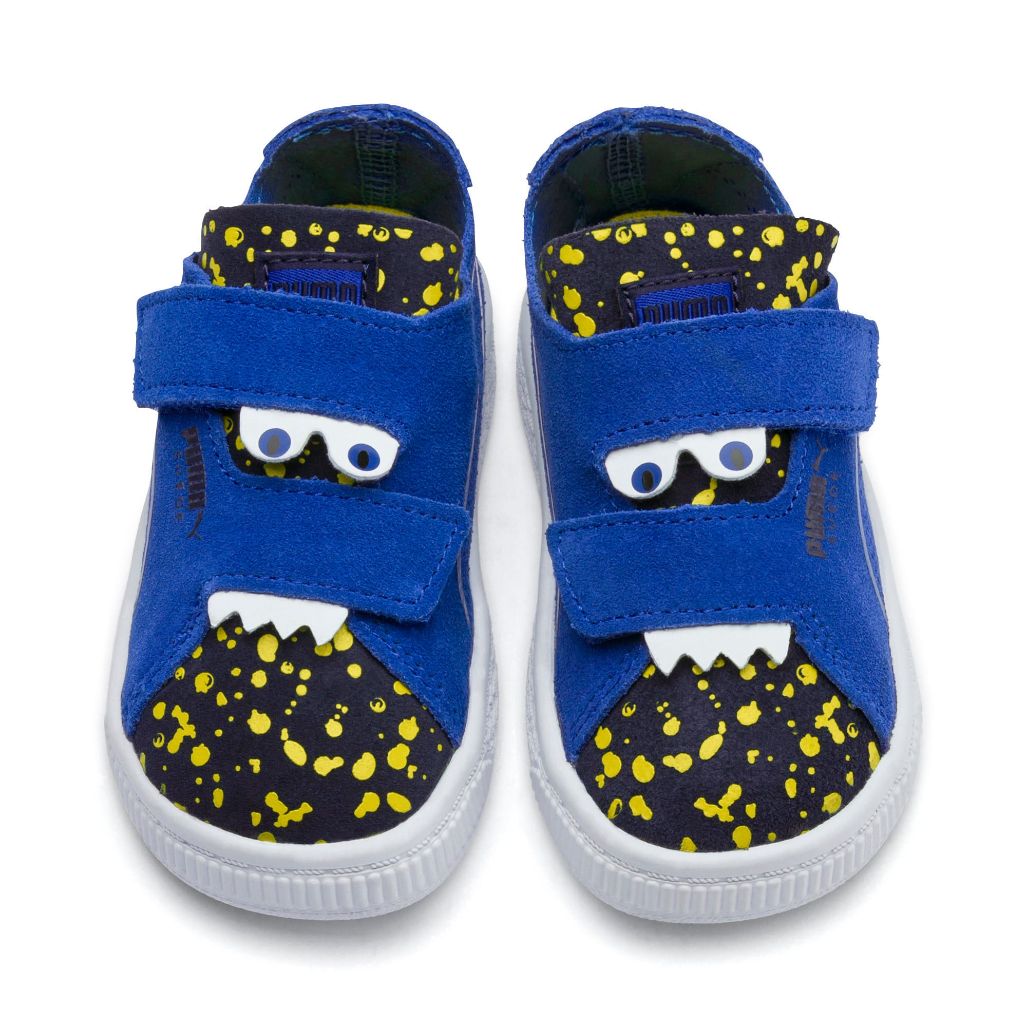 Thumbnail 7 of Suede Deconstructed Monster Kids' Trainers, Surf-Peac-Blazing Yellow, medium-IND