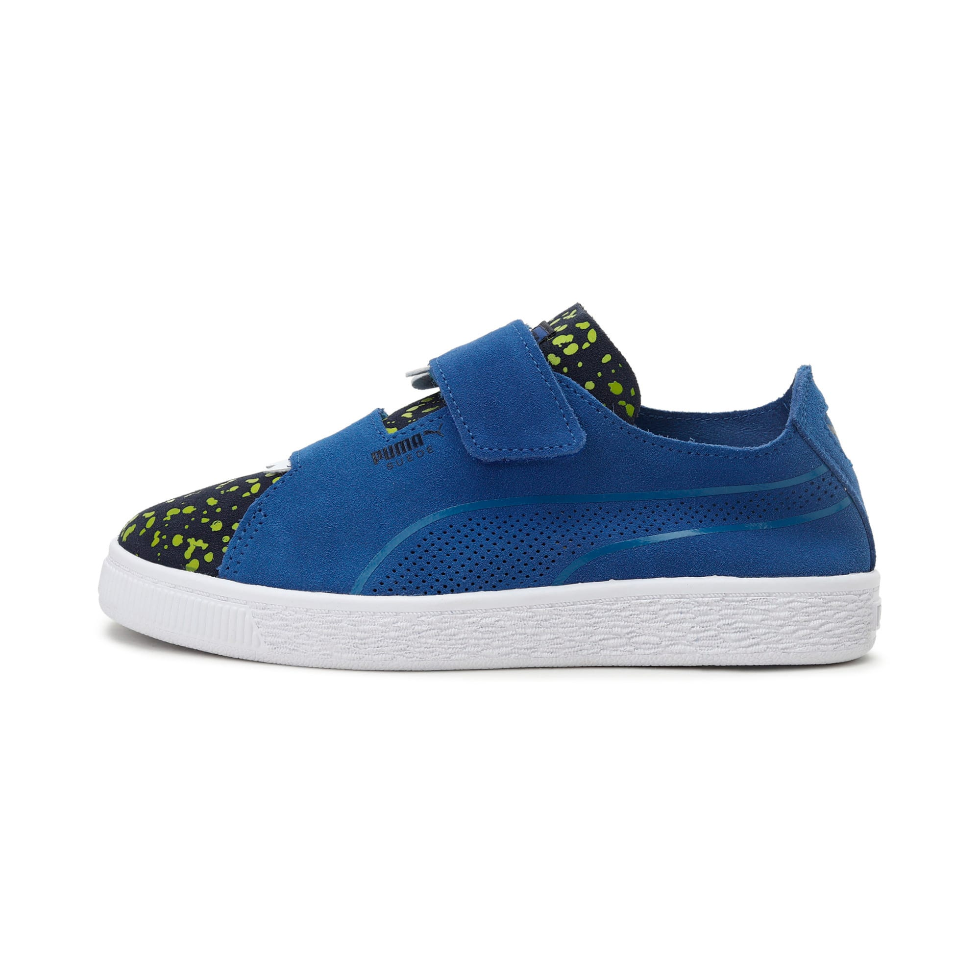 Thumbnail 1 of Suede Deconstructed Monster Kids' Trainers, Surf-Peac-Blazing Yellow, medium-IND