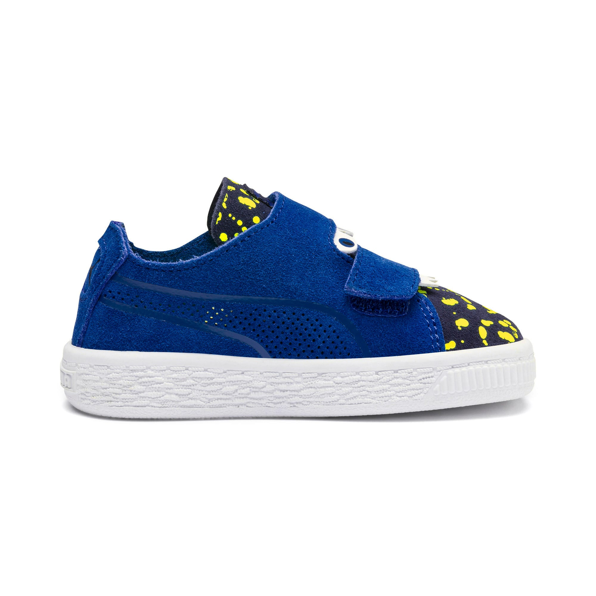 Thumbnail 5 of Suede Deconstructed Monster Kids' Trainers, Surf-Peac-Blazing Yellow, medium-IND