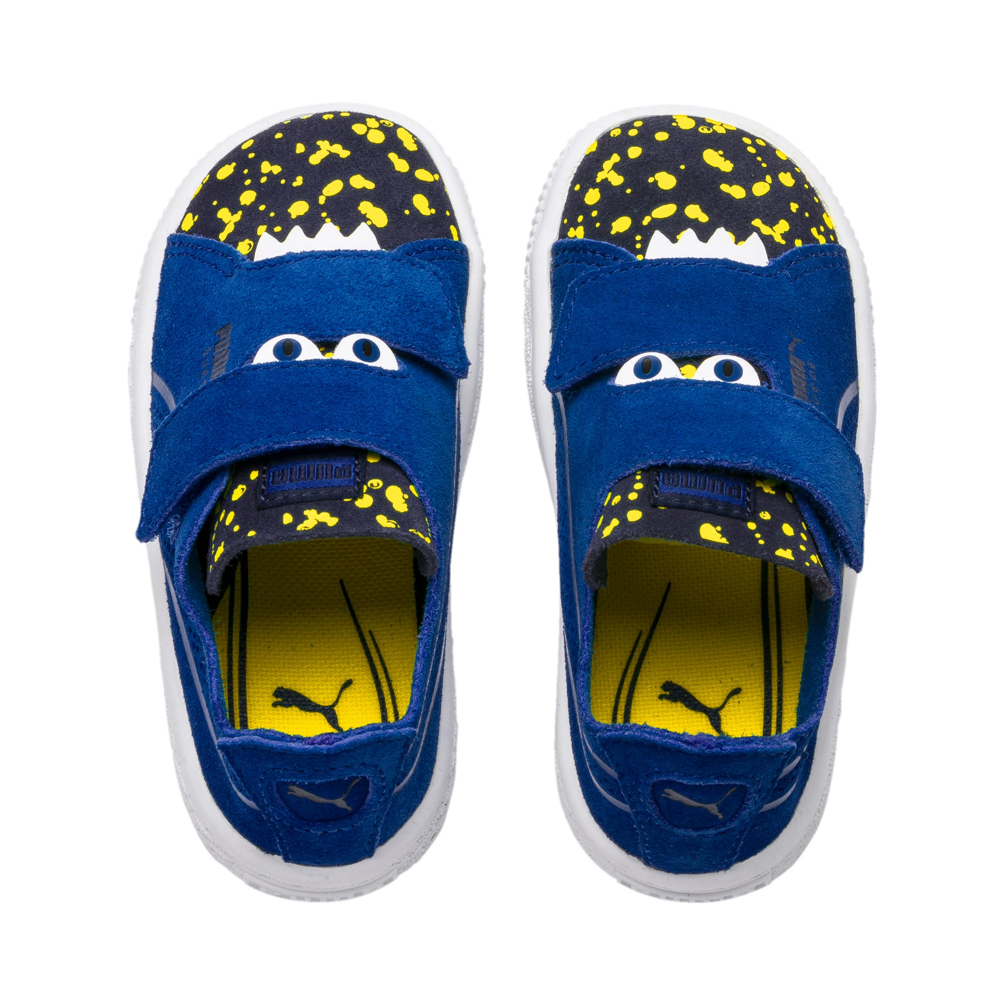 Thumbnail 6 of Suede Deconstructed Monster Kids' Trainers, Surf-Peac-Blazing Yellow, medium-IND