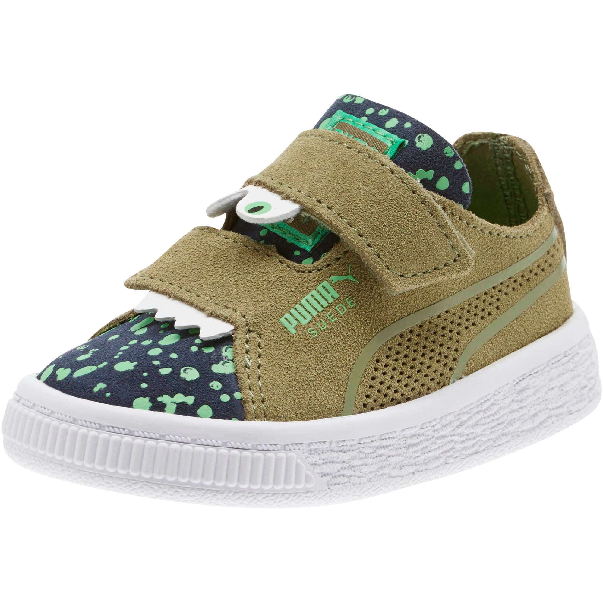 Thumbnail 1 of Suede Deconstruct Monster Toddler Shoes, Olivine-Peacoat-Irish Green, medium