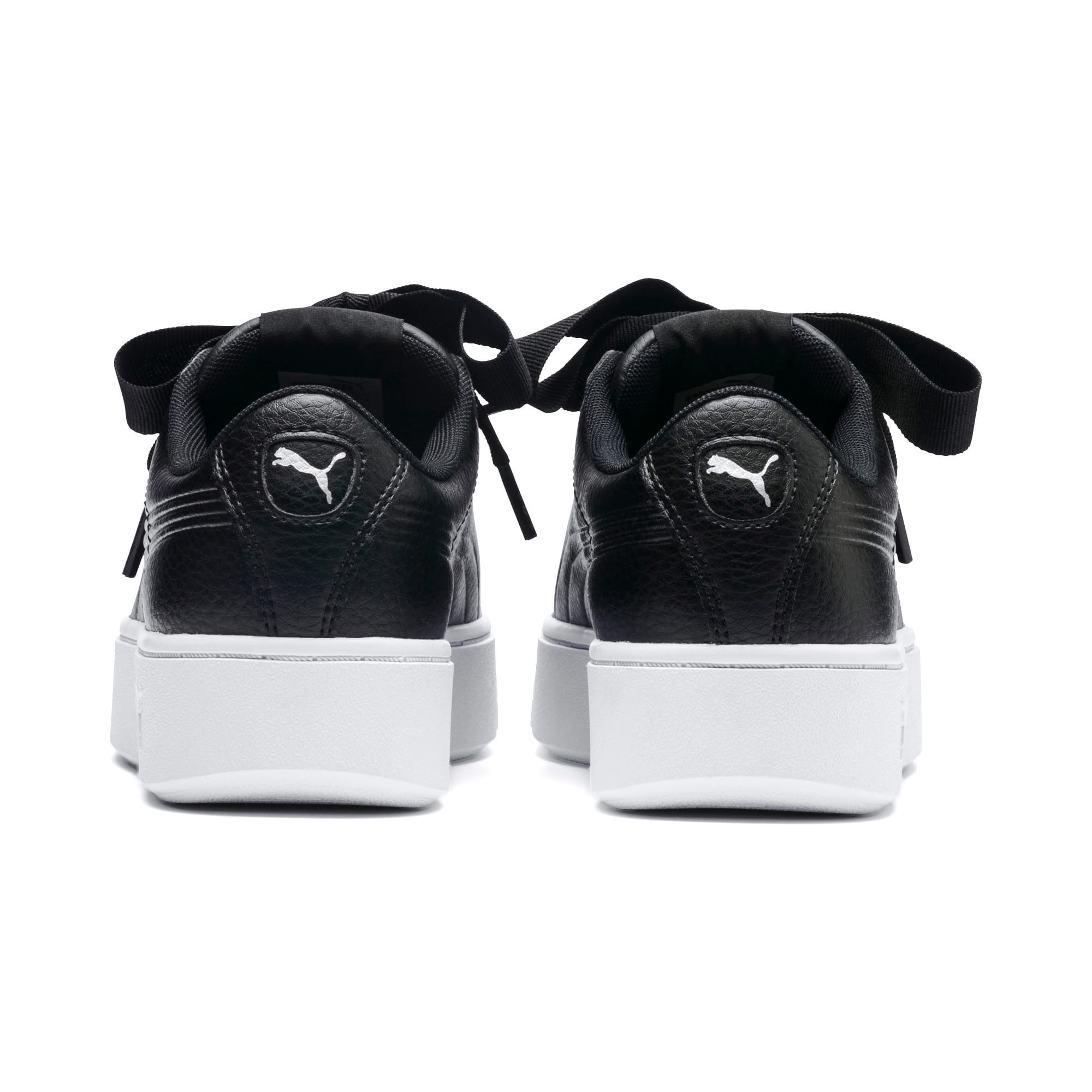 Thumbnail 3 of PUMA Vikky Stacked Ribbon Core Women's Sneakers, Puma Black-Puma Black, medium