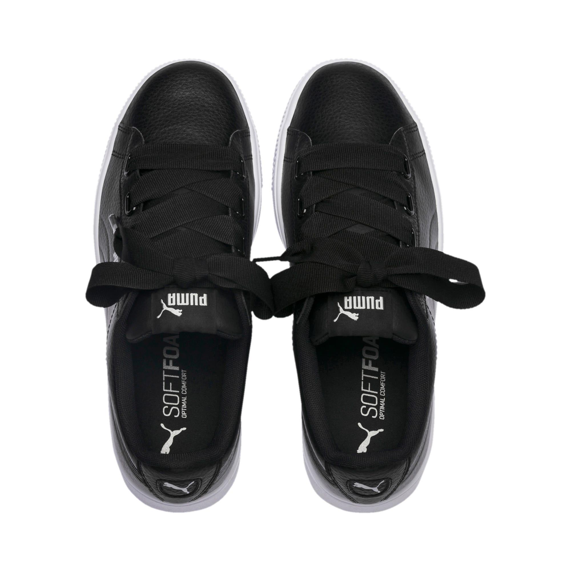 Thumbnail 6 of PUMA Vikky Stacked Ribbon Core Women's Sneakers, Puma Black-Puma Black, medium