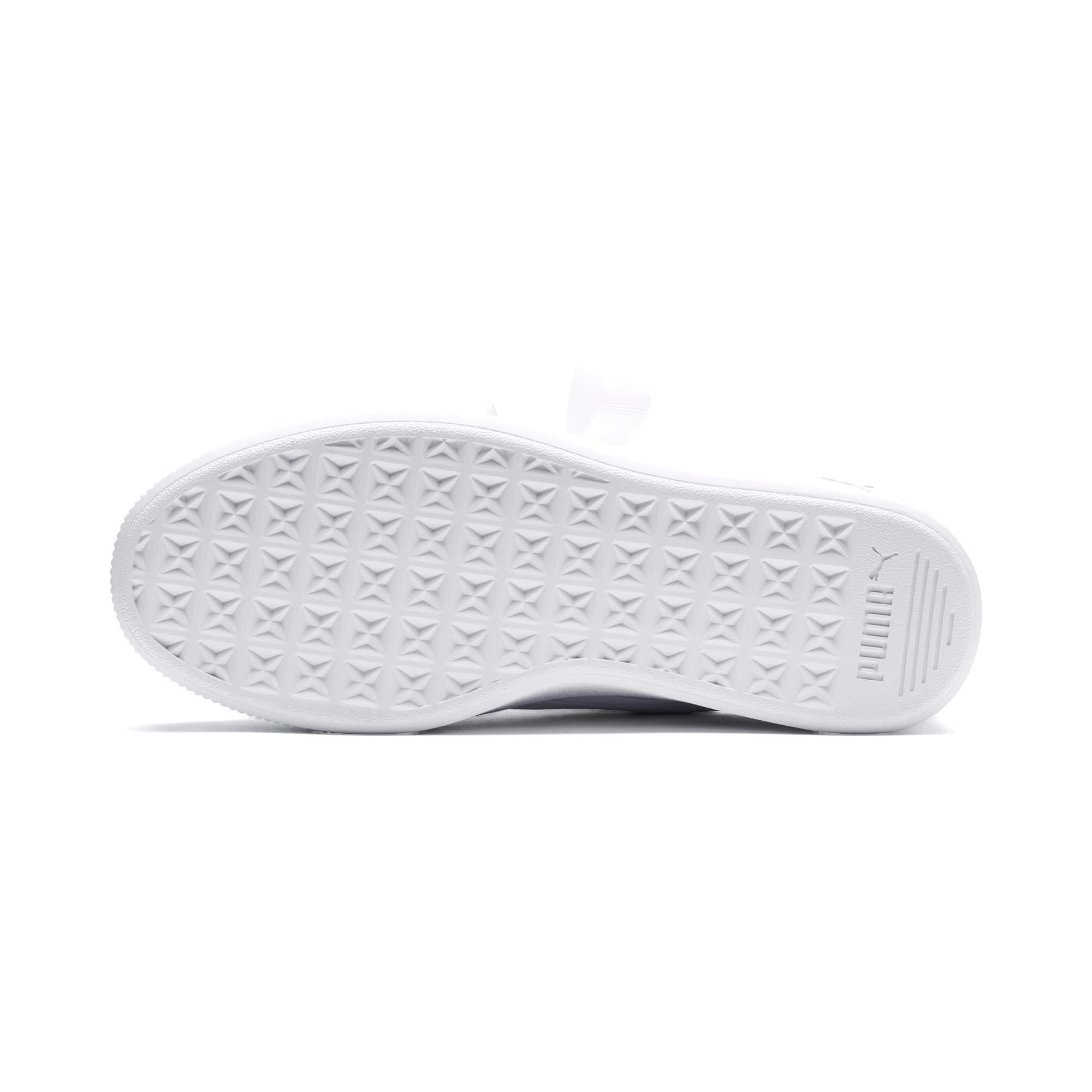 Thumbnail 4 of PUMA Vikky Stacked Ribbon Core Women's Sneakers, Puma White-Puma White, medium