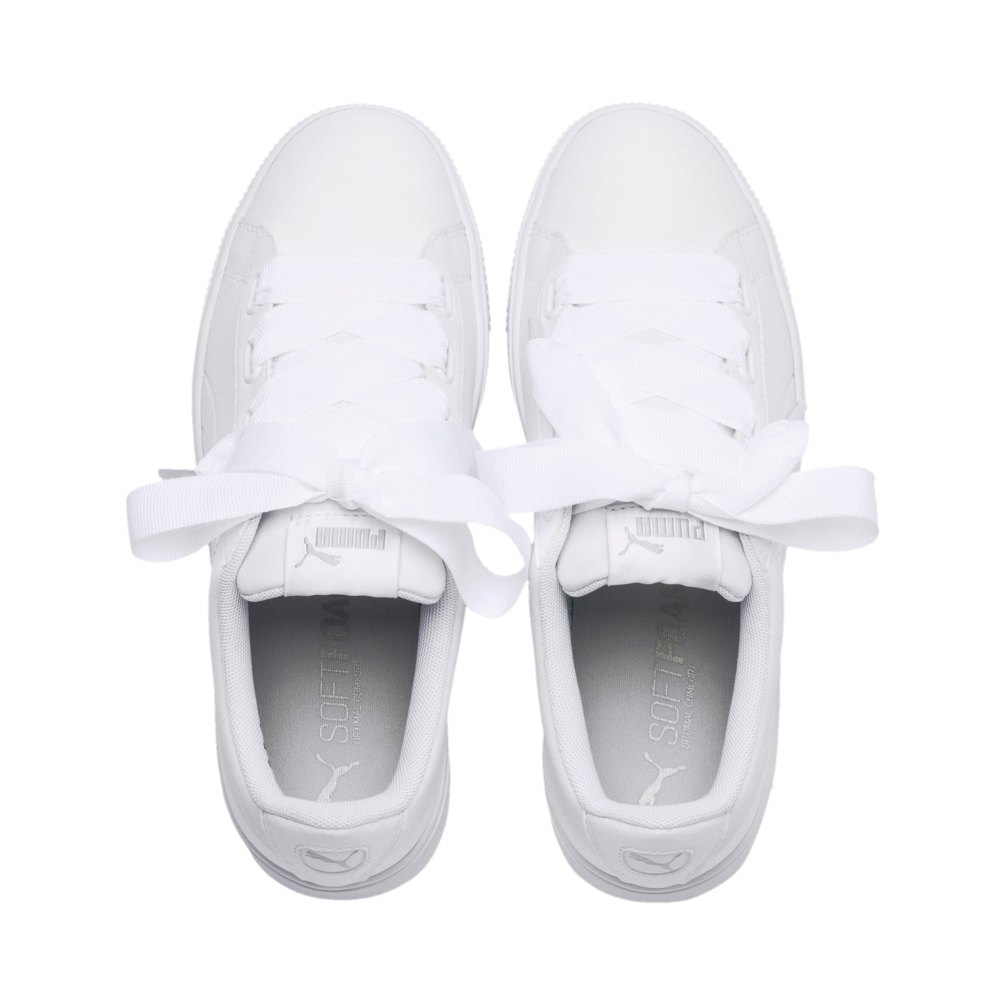 Thumbnail 6 of PUMA Vikky Stacked Ribbon Core Women's Sneakers, Puma White-Puma White, medium