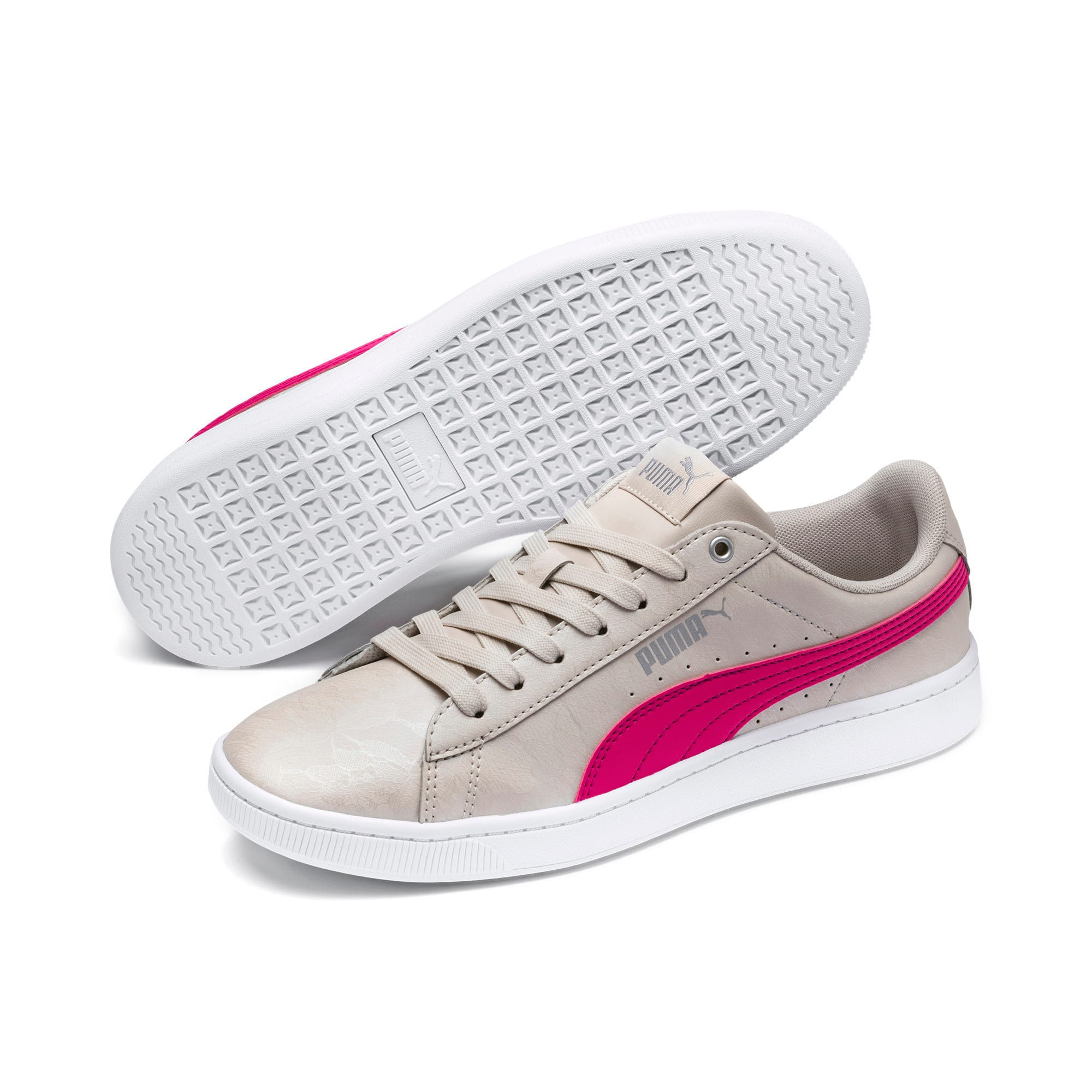Thumbnail 2 of PUMA Vikky v2 Summer Pack Women's Sneakers, Silver Gray-F Purple-Silver, medium-IND