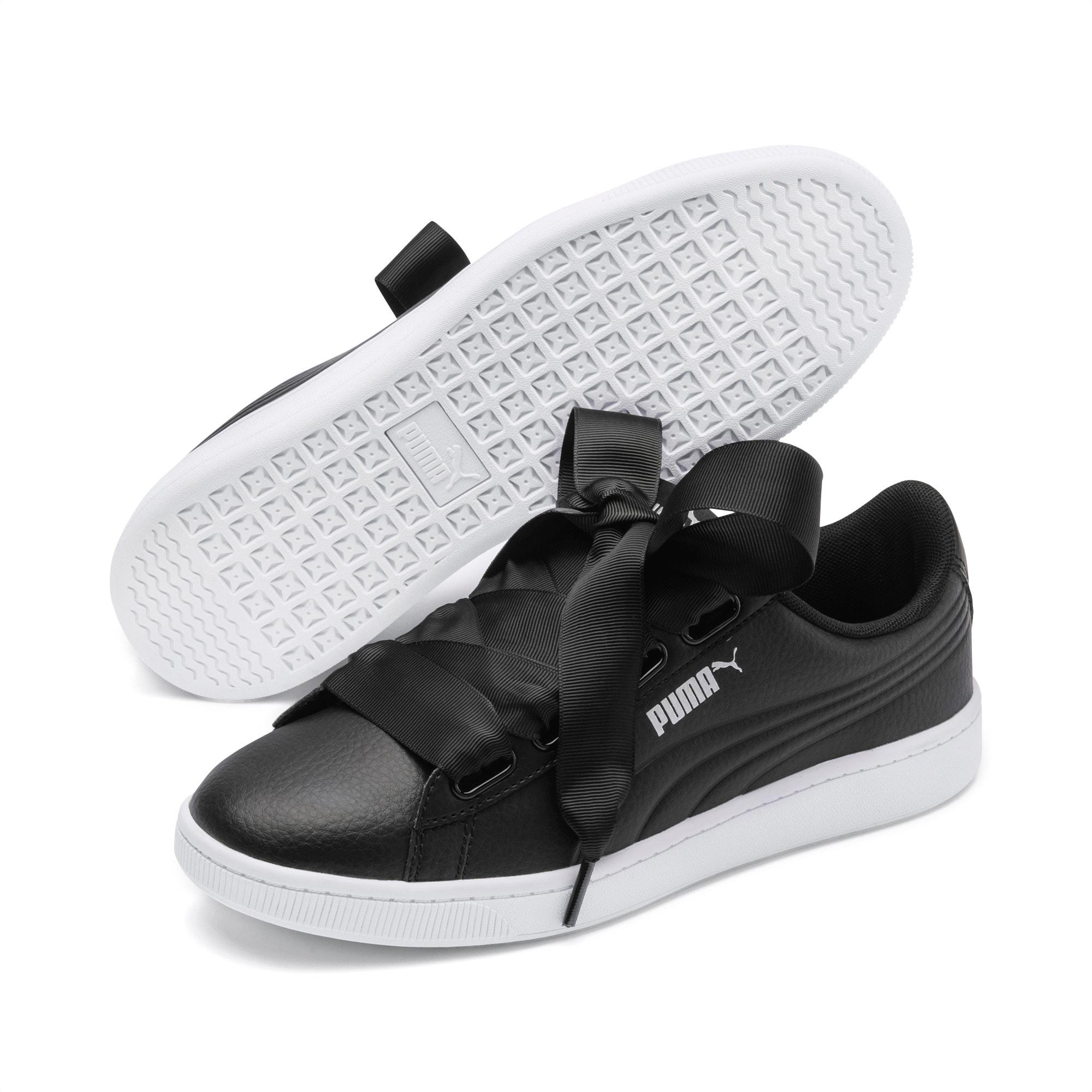 Vikky v2 Ribbon Core Damen Sneaker   Black Puma Silver White