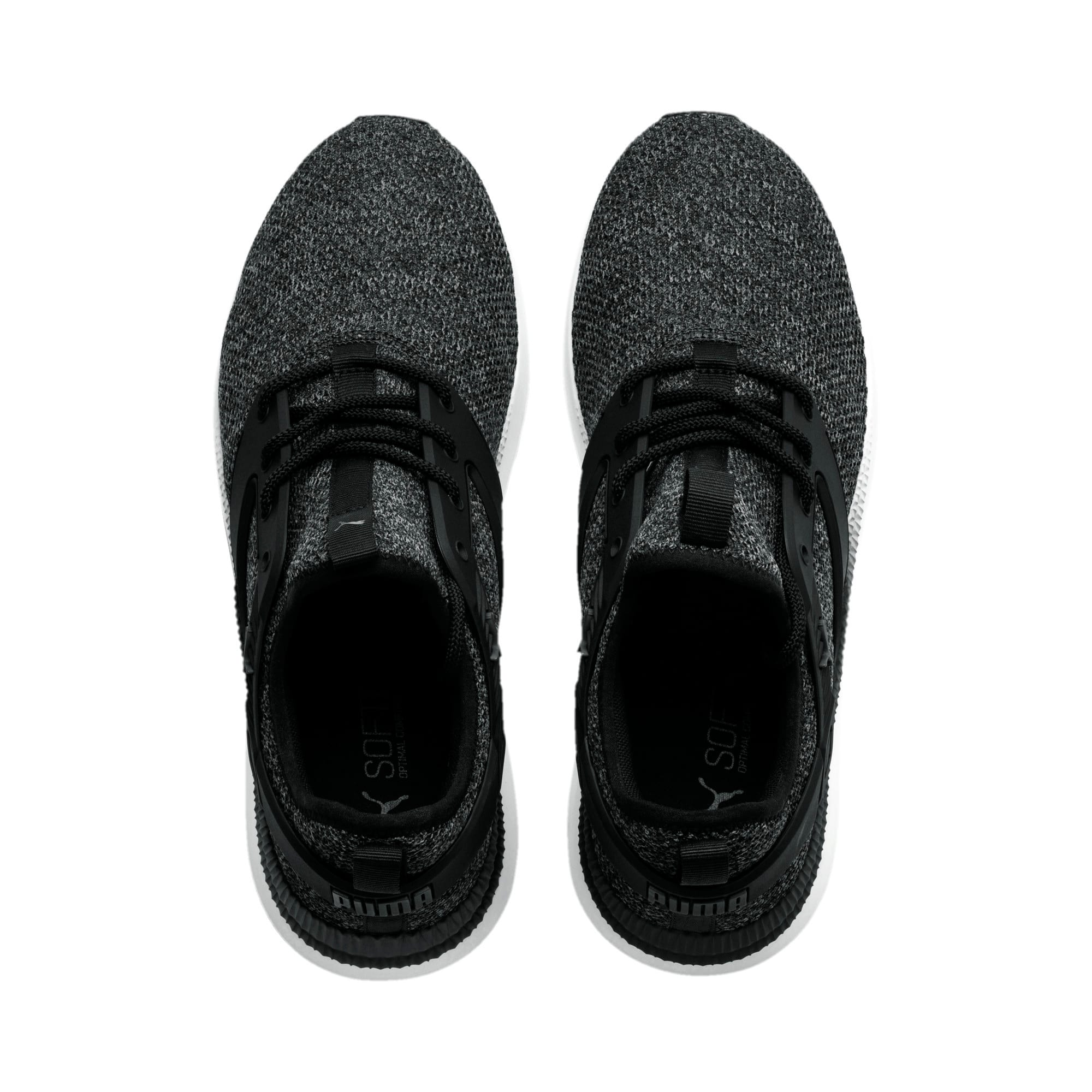 Thumbnail 2 of Pacer Next Excel VariKnit Trainers, Puma Black-Charcoal Gray, medium-IND