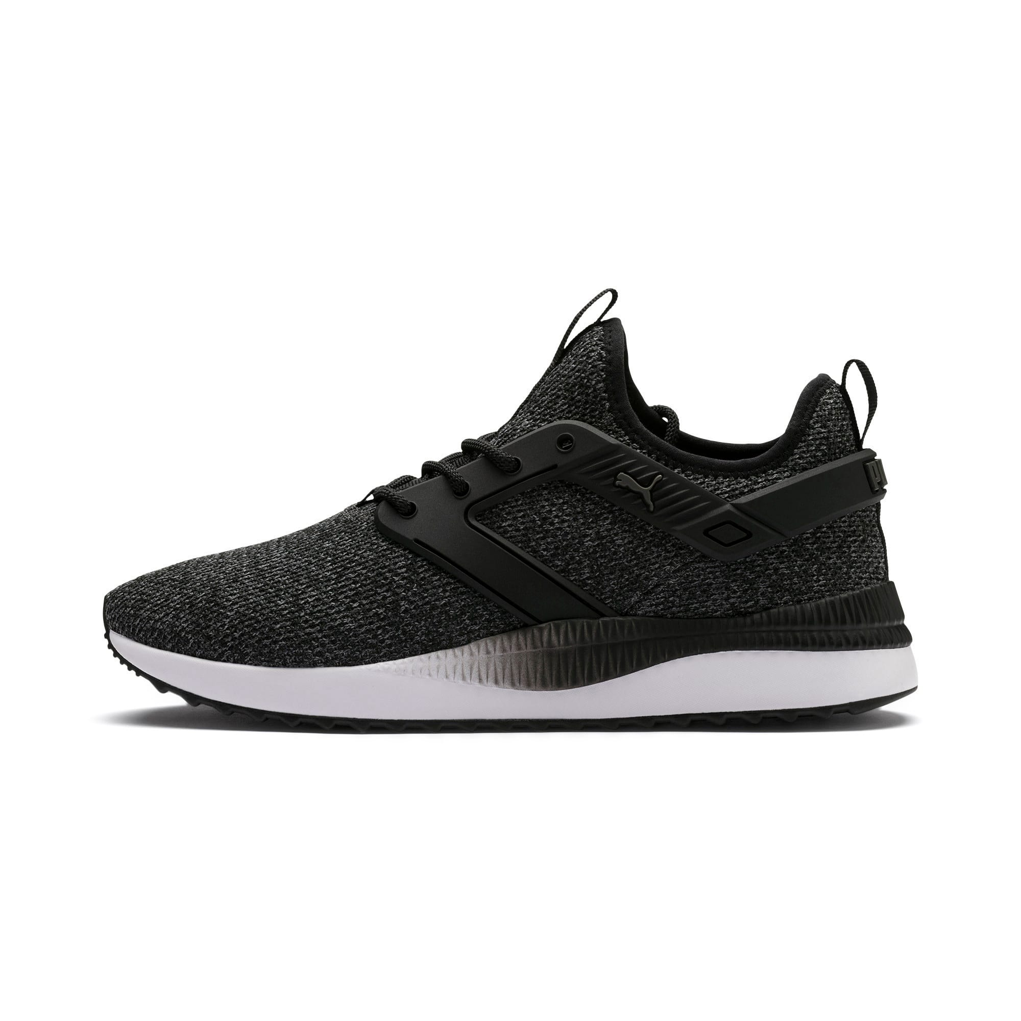Thumbnail 1 of Pacer Next Excel VariKnit Trainers, Puma Black-Charcoal Gray, medium-IND
