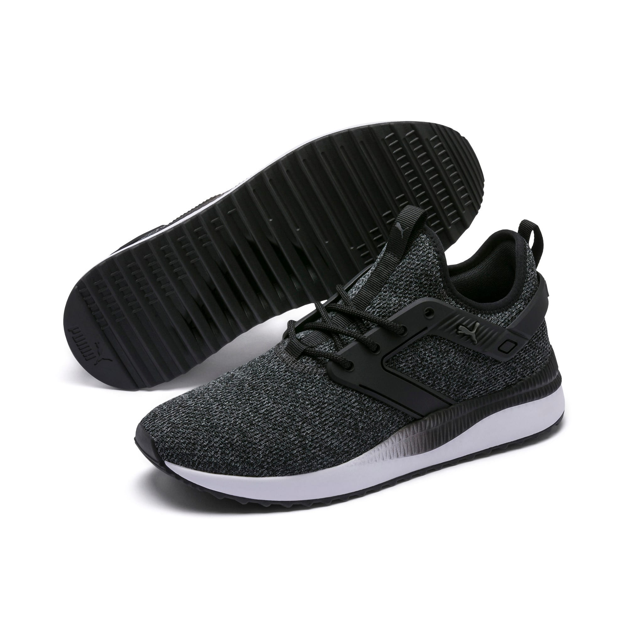 Thumbnail 6 of Pacer Next Excel VariKnit Trainers, Puma Black-Charcoal Gray, medium-IND