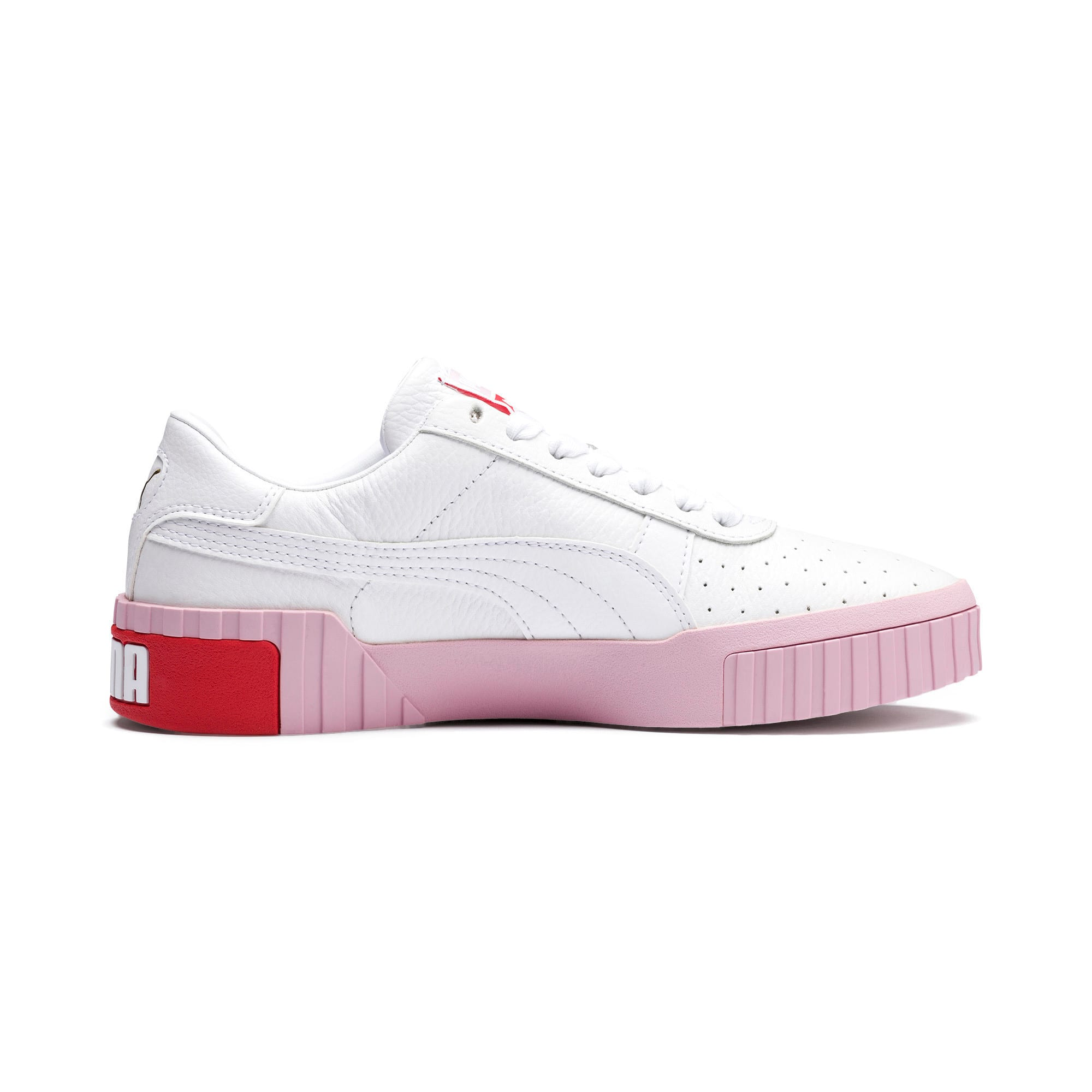 Thumbnail 6 of Cali Women's Trainers, Puma White-Pale Pink, medium