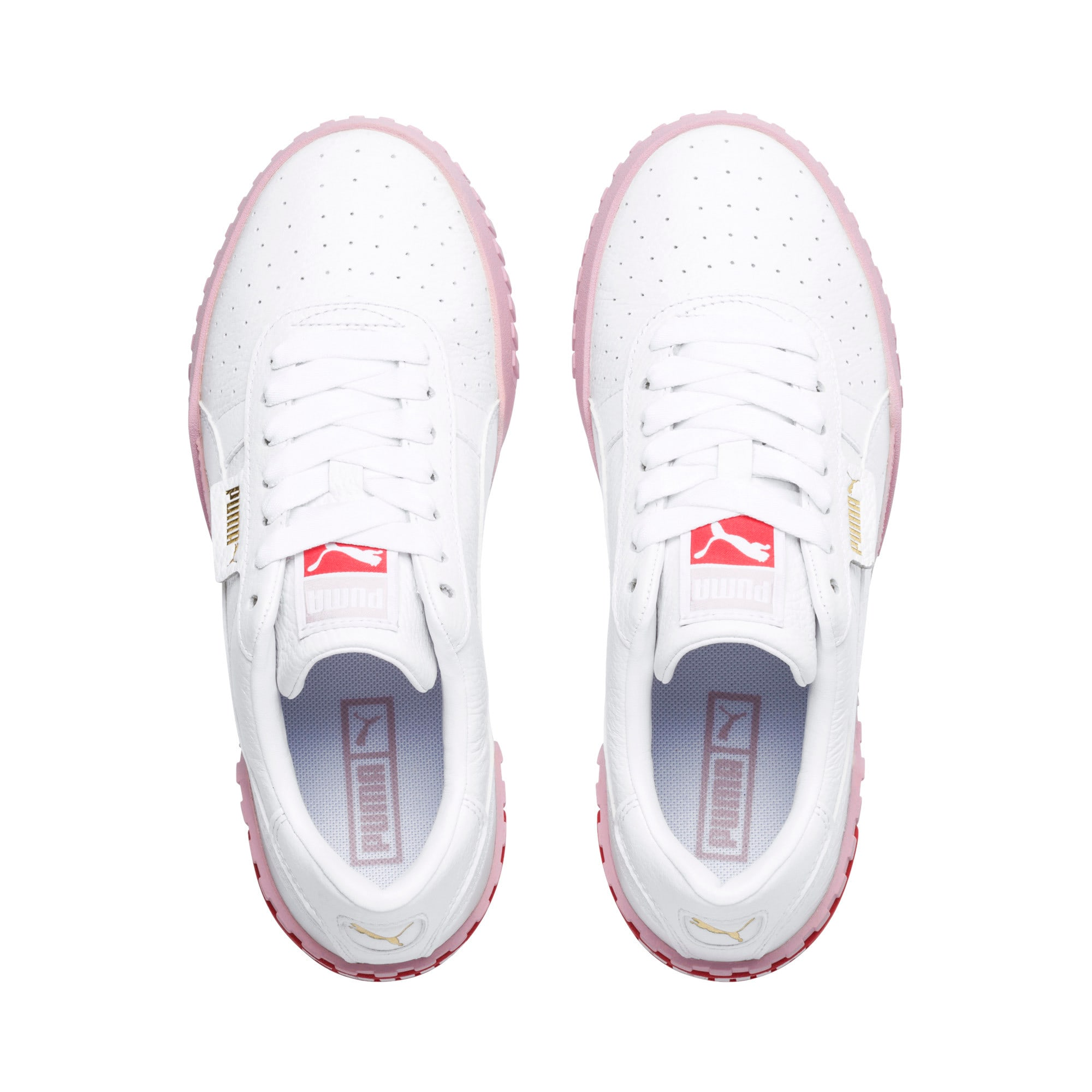 Thumbnail 7 of Cali Women's Trainers, Puma White-Pale Pink, medium