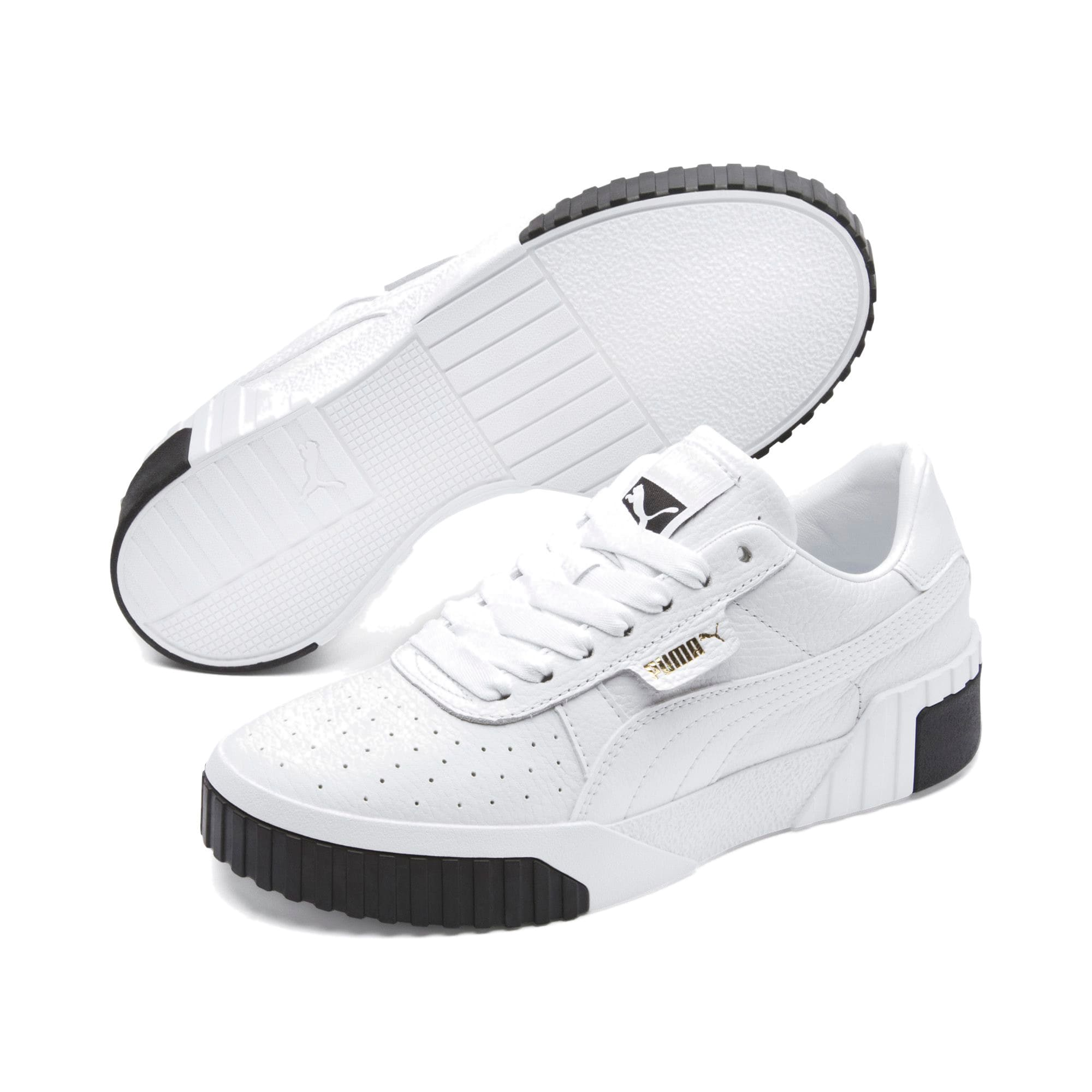 Thumbnail 3 of Cali Women's Trainers, Puma White-Puma Black, medium