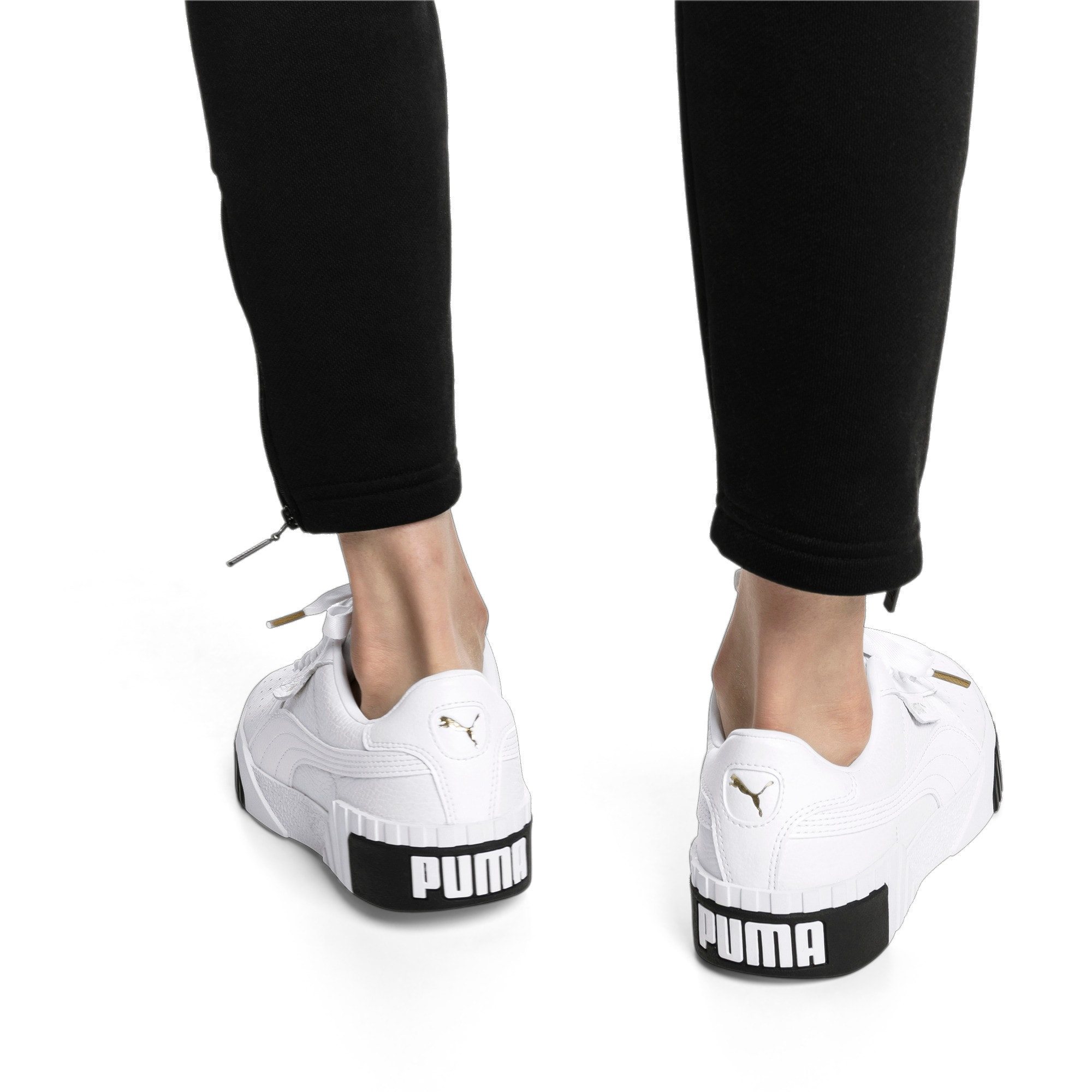 Thumbnail 2 of Cali Women's Trainers, Puma White-Puma Black, medium