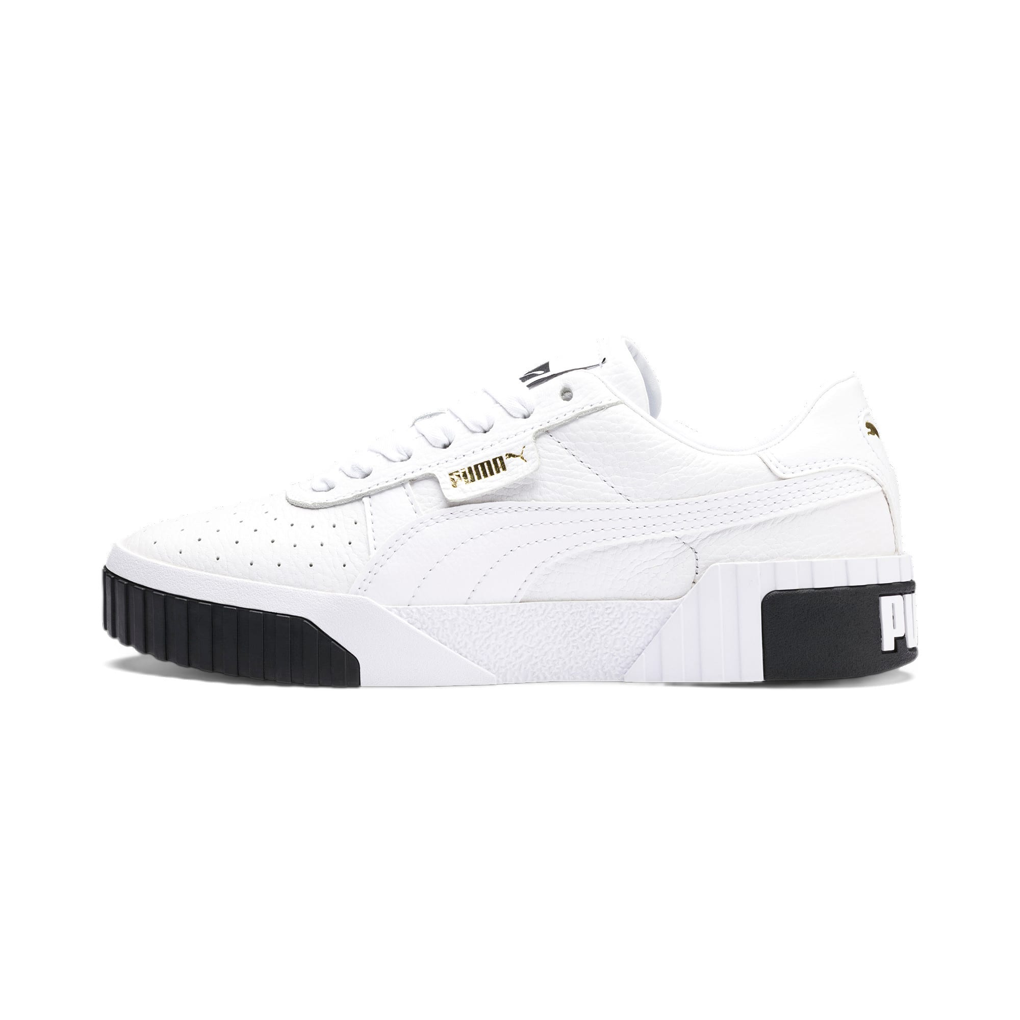Thumbnail 1 of Cali Women's Trainers, Puma White-Puma Black, medium