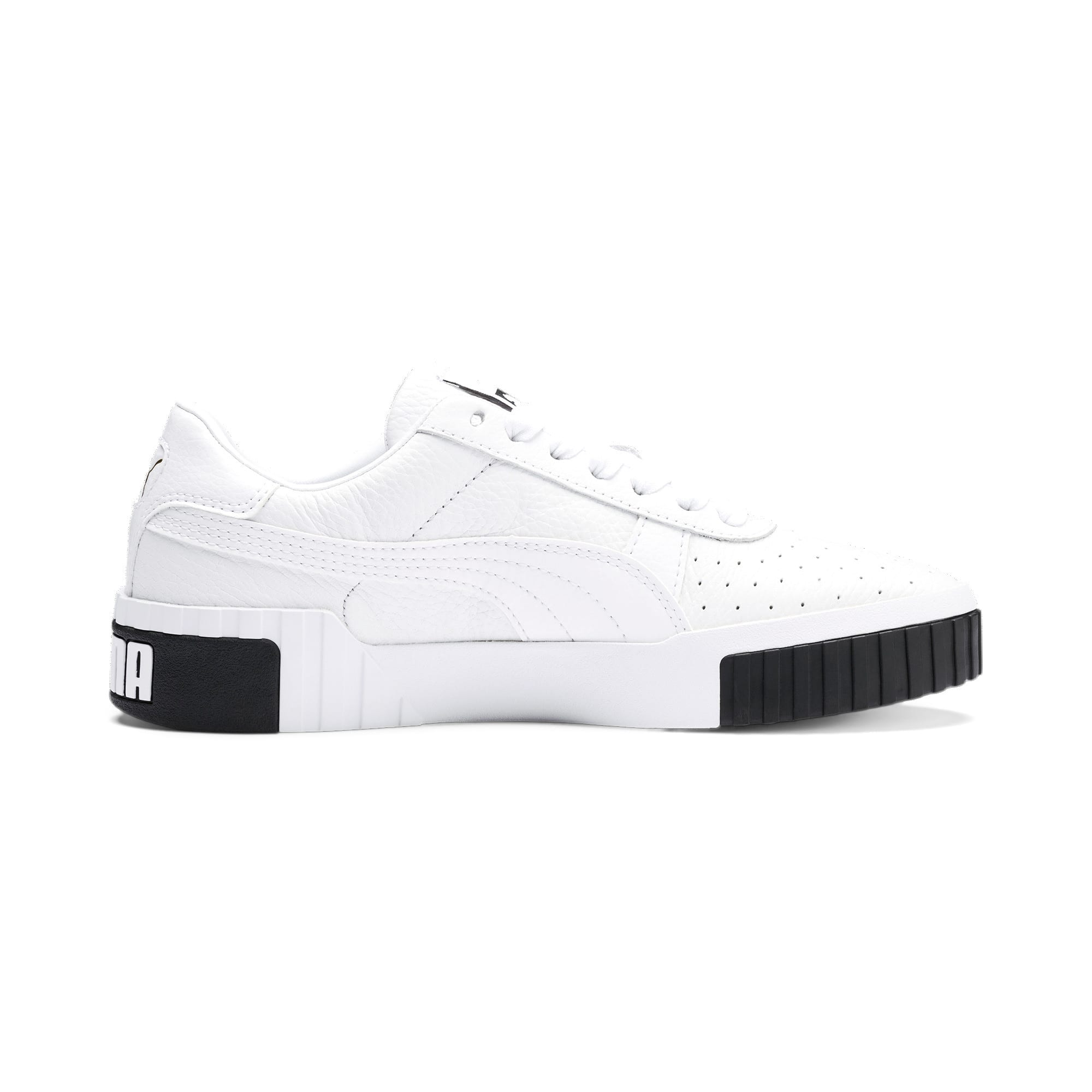 Thumbnail 6 of Cali Women's Trainers, Puma White-Puma Black, medium