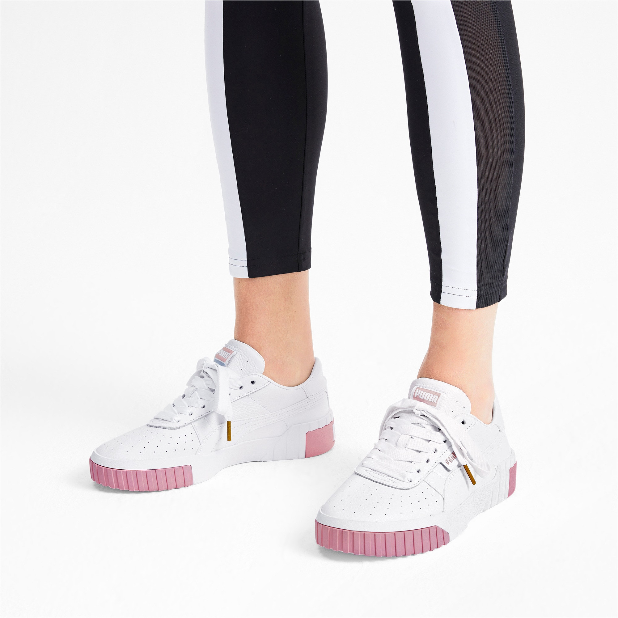 Thumbnail 3 of Cali Women's Trainers, Puma White-Rose Gold, medium-IND