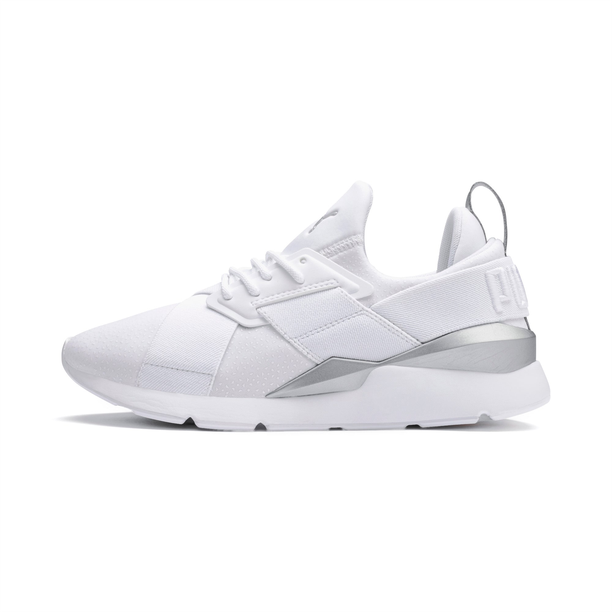 Womens Puma Muse X 2 Athletic Shoe White Silver   Journeys