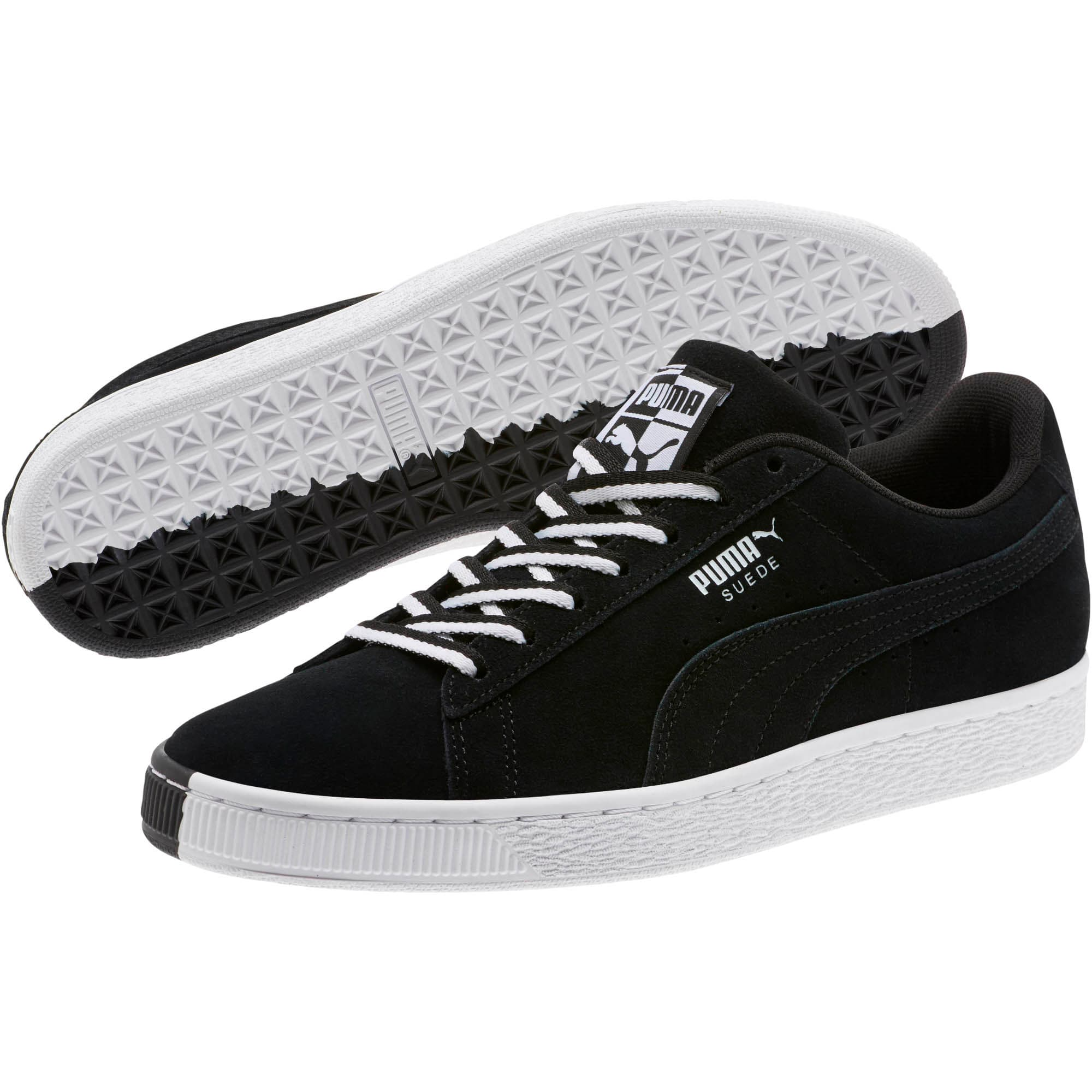 """Thumbnail 2 of Suede Classic """"Other Side"""" Sneakers, Puma Black-Puma White, medium"""