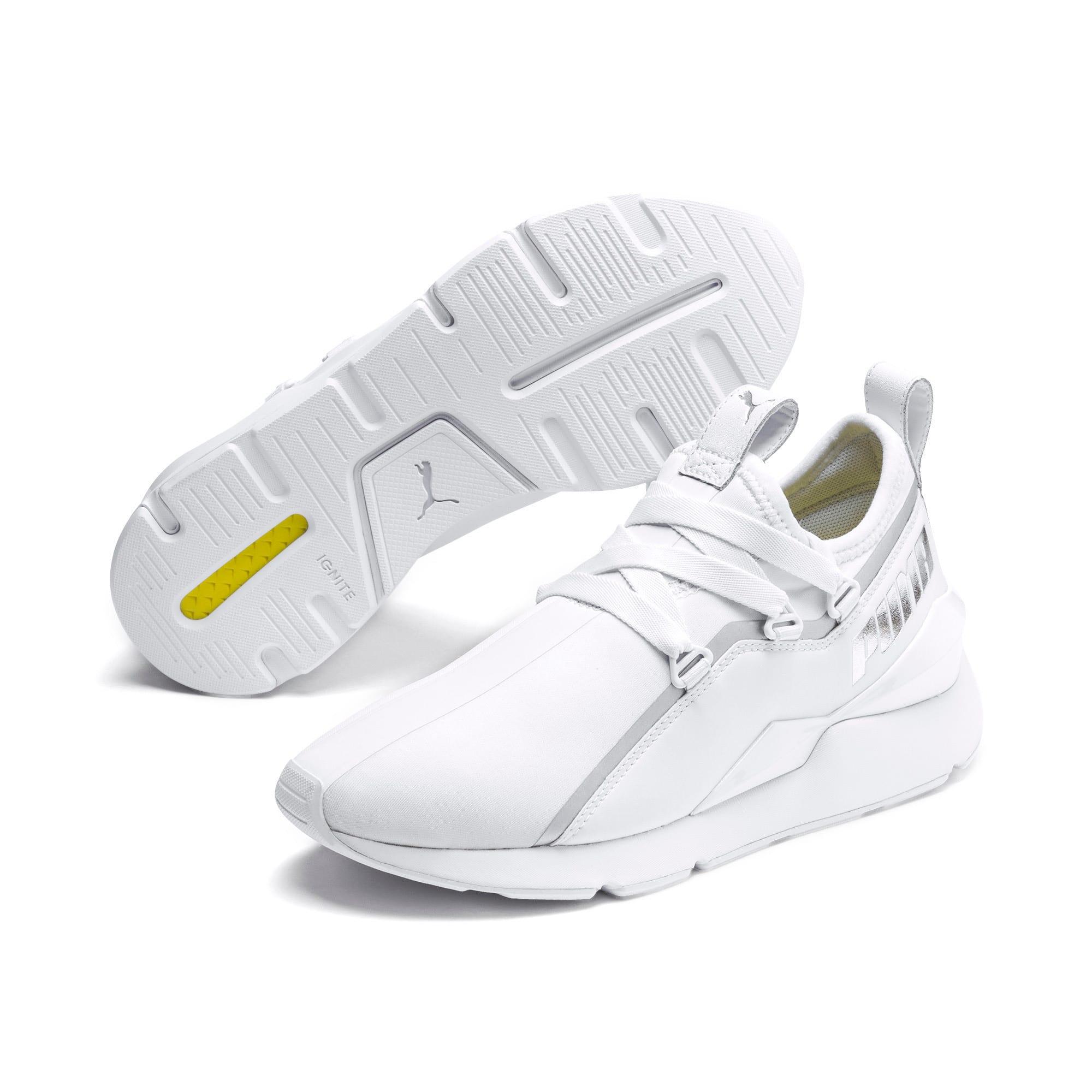 Thumbnail 3 of Muse 2 Trailblazer Women's Sneakers, Puma White-Puma Silver, medium